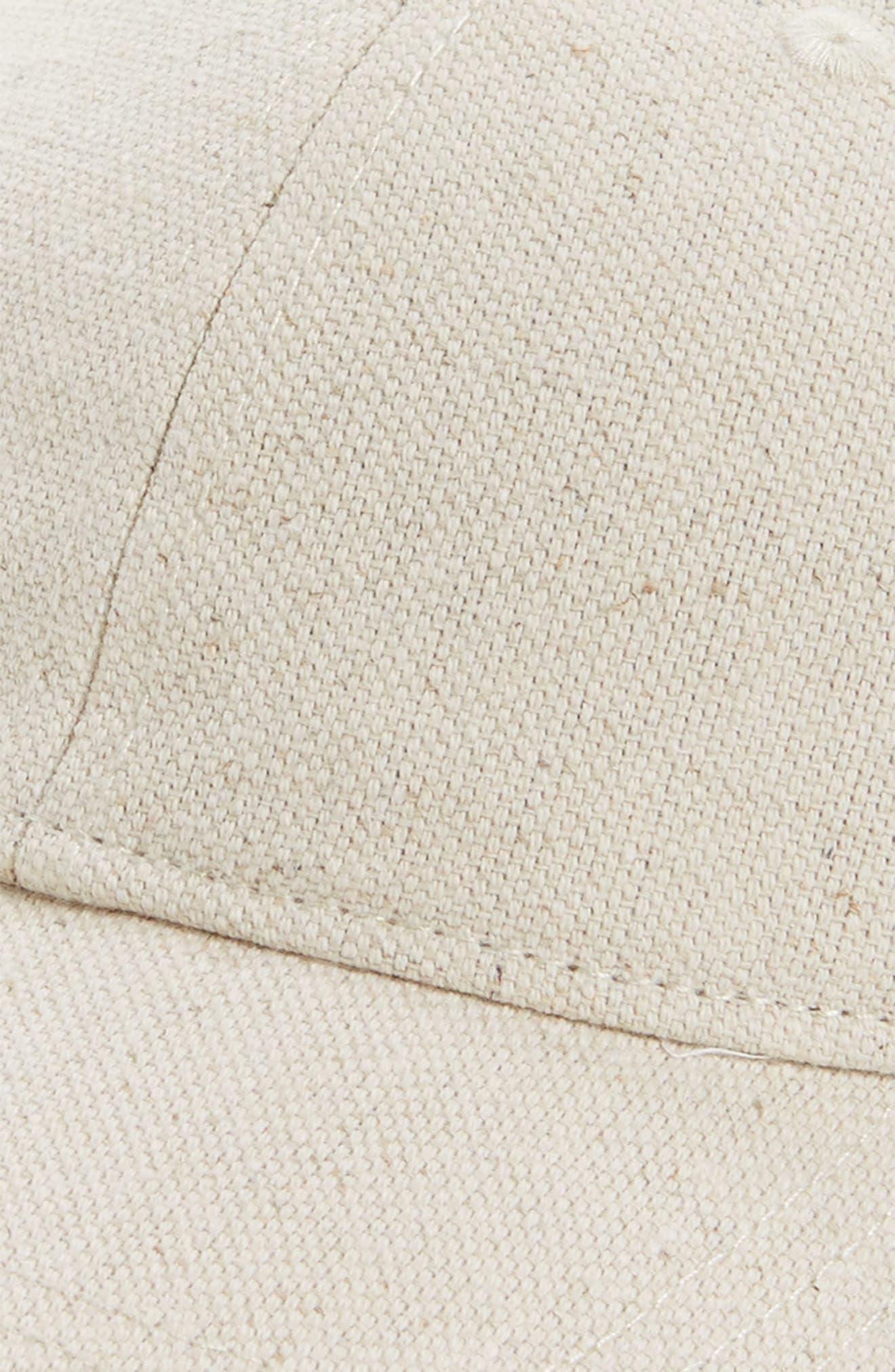 Cotton & Linen Baseball Cap,                             Alternate thumbnail 3, color,