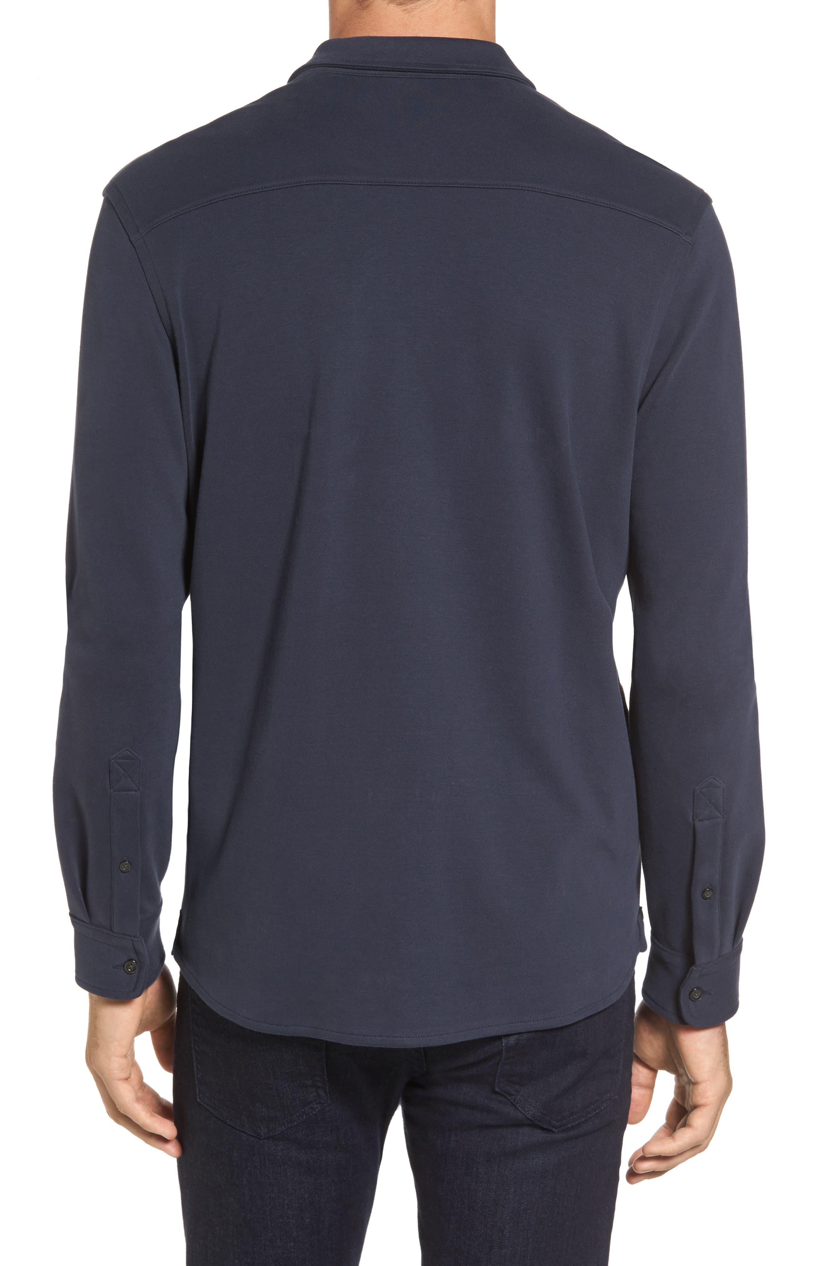 Trim Fit Pima Cotton Knit Sport Shirt,                             Alternate thumbnail 2, color,                             410
