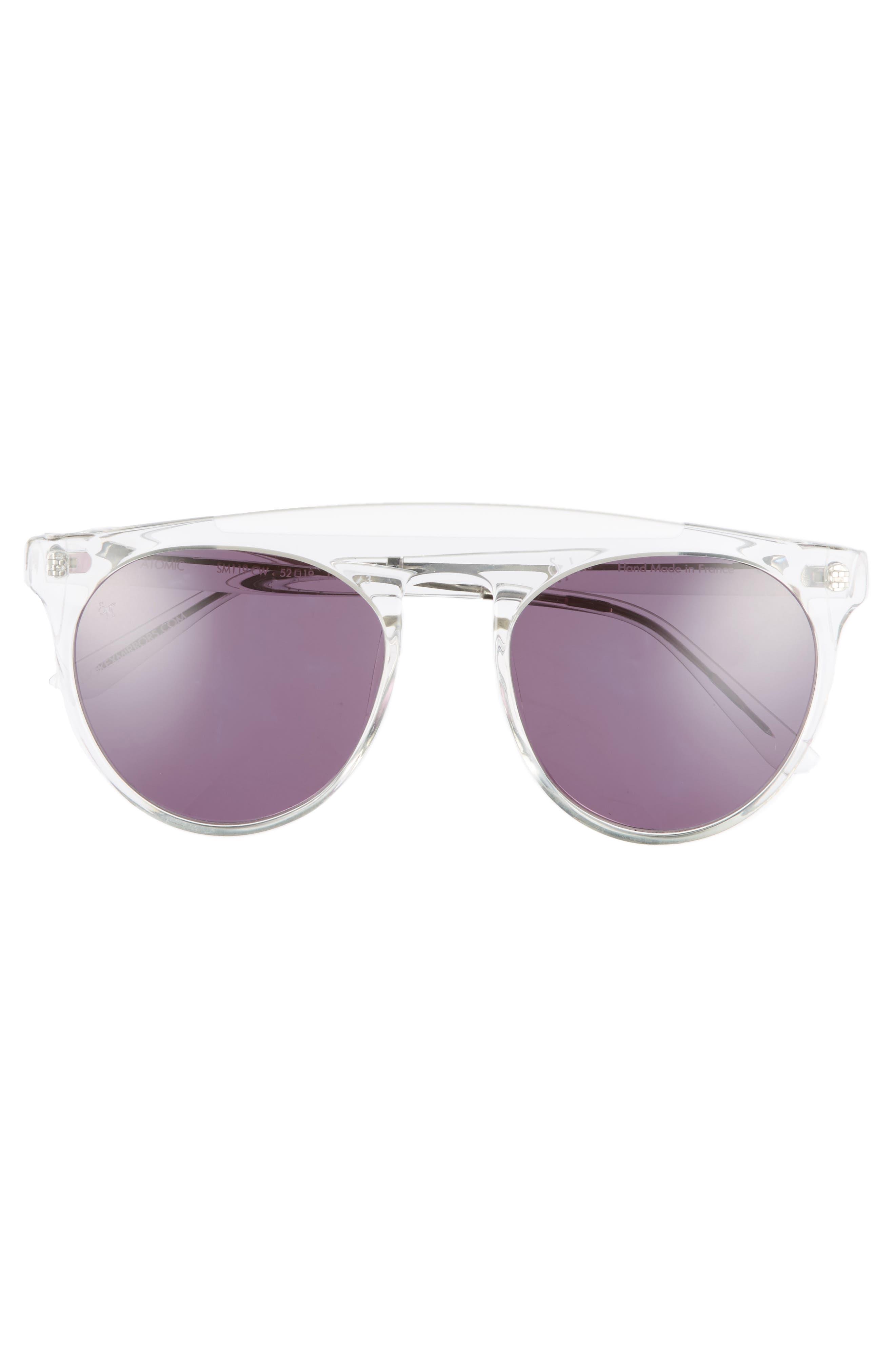 Atomic 52mm Sunglasses,                             Alternate thumbnail 4, color,