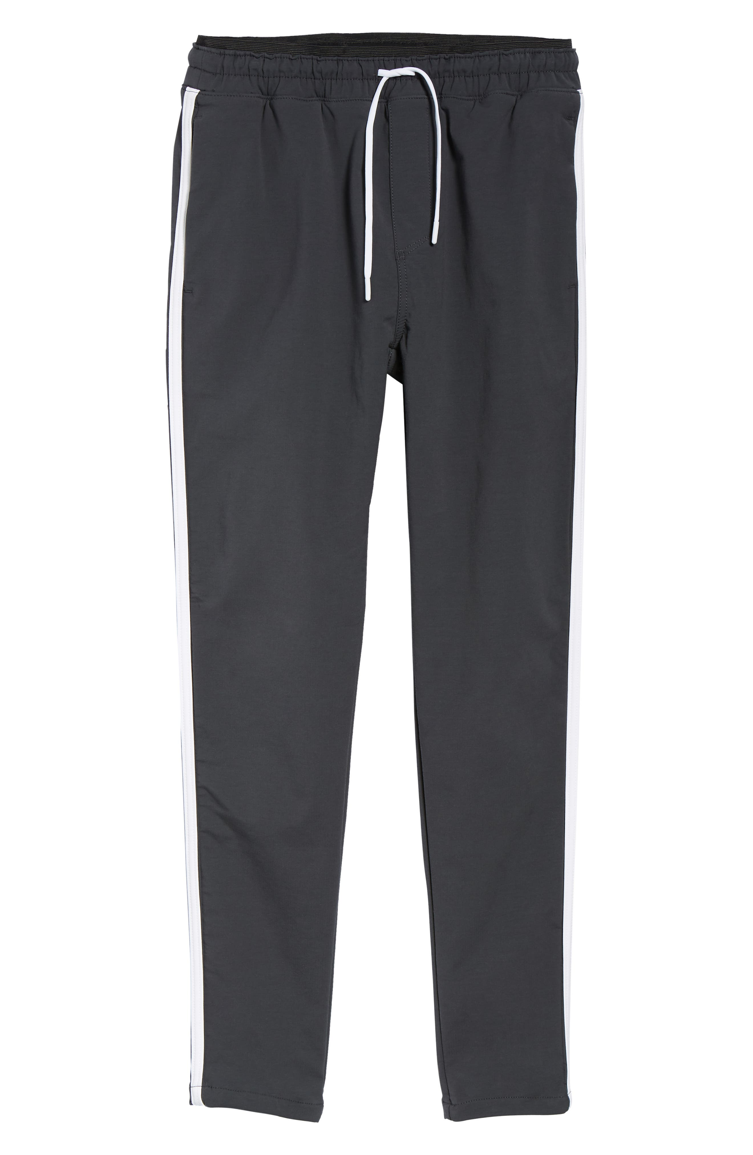 Jumpshot Slim Track Pants,                             Alternate thumbnail 6, color,                             VINTAGE BLACK