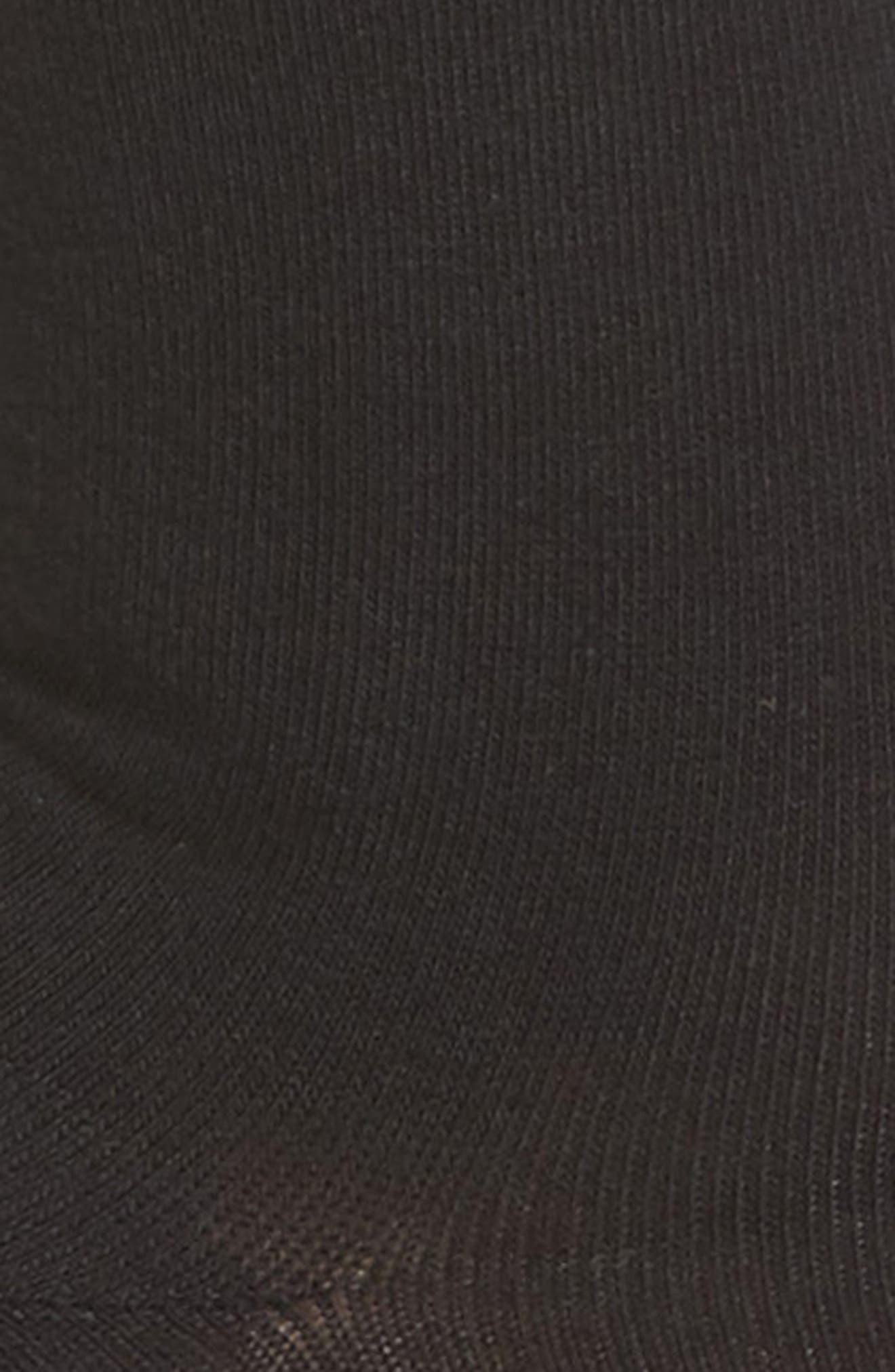 Everyday Roll Top Socks,                             Alternate thumbnail 2, color,                             BLACK
