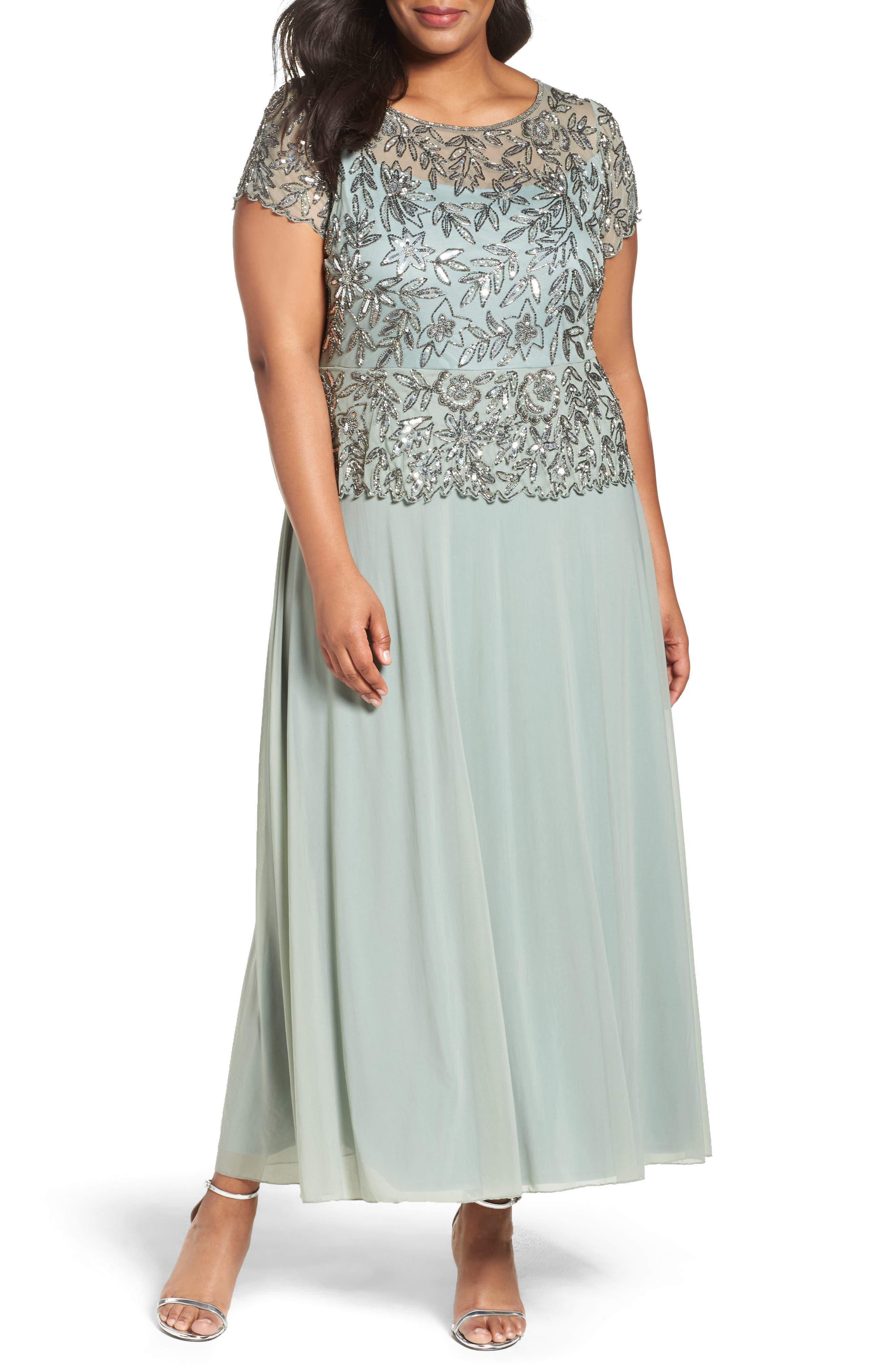 Mock 2-Pc. A-Line Gown,                             Main thumbnail 2, color,