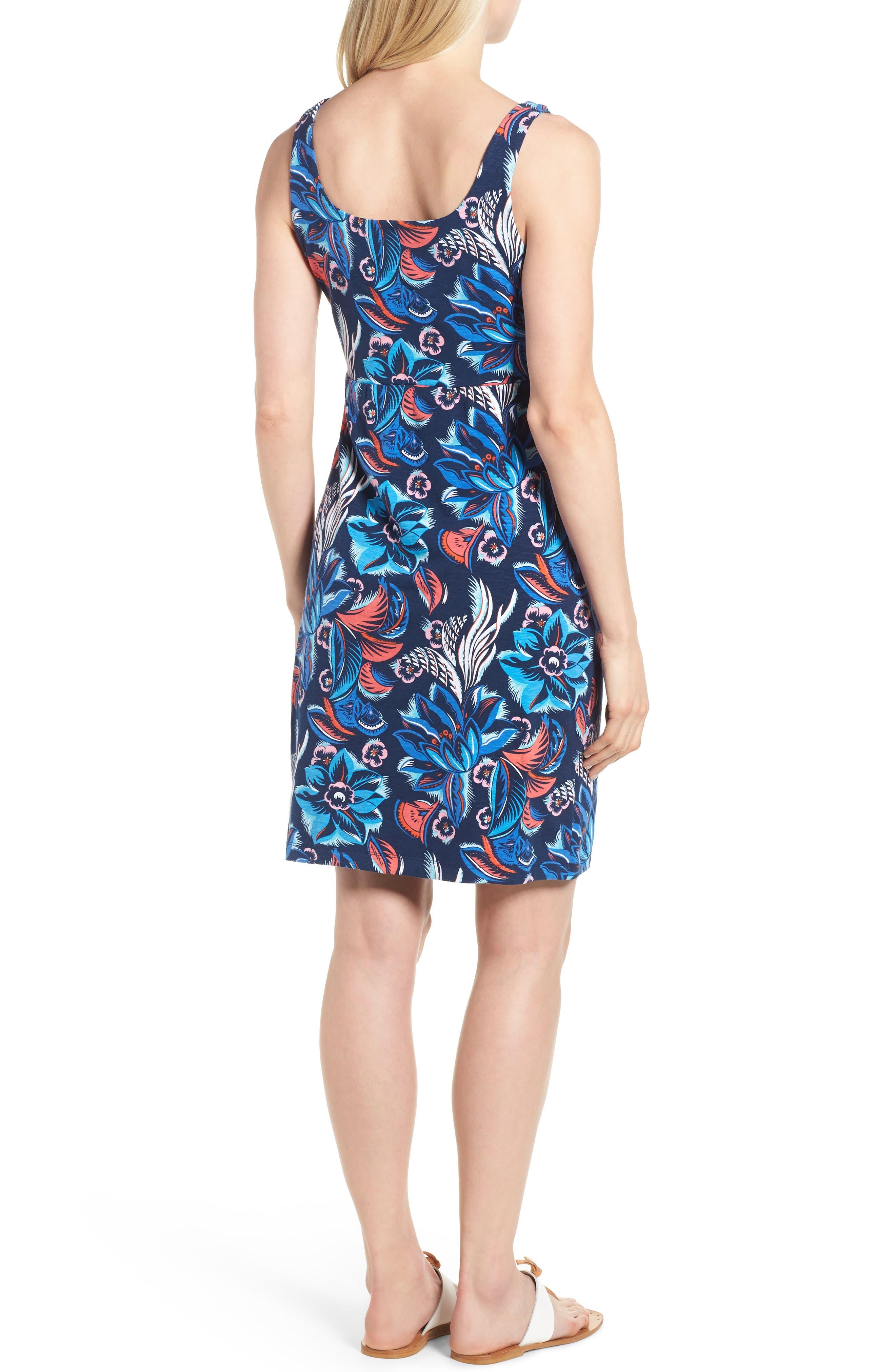 Bohemian Blossoms Tank Dress,                             Alternate thumbnail 2, color,                             OCEAN DEEP