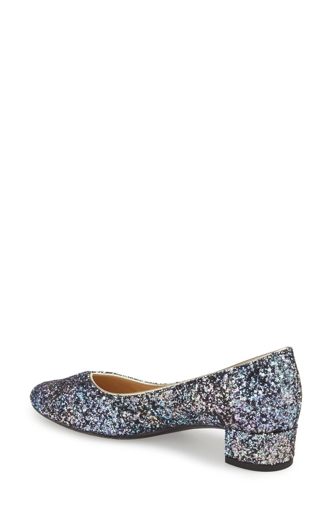 'Bambalina' Block Heel Glitter Pump,                             Alternate thumbnail 11, color,