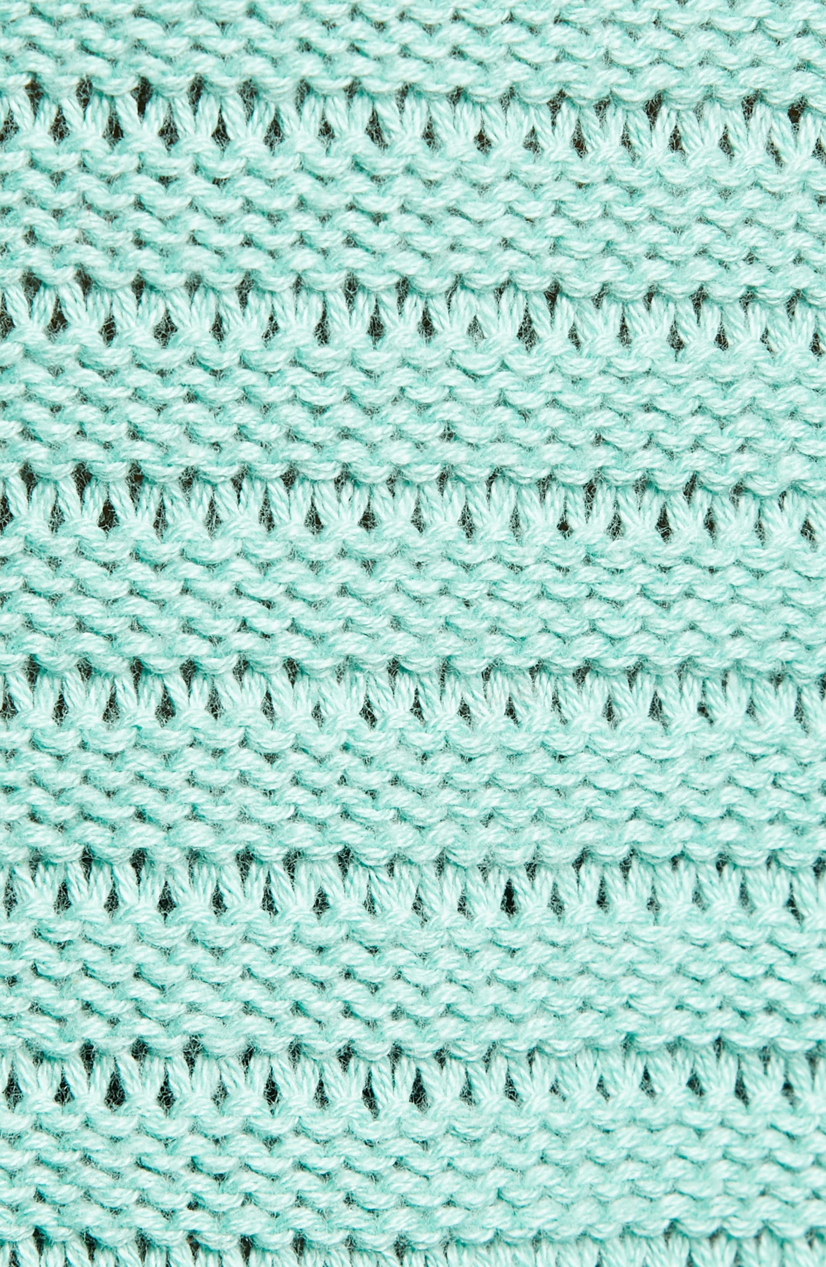 Tuck Stitch V-Neck Sweater,                             Alternate thumbnail 5, color,                             GREEN WING