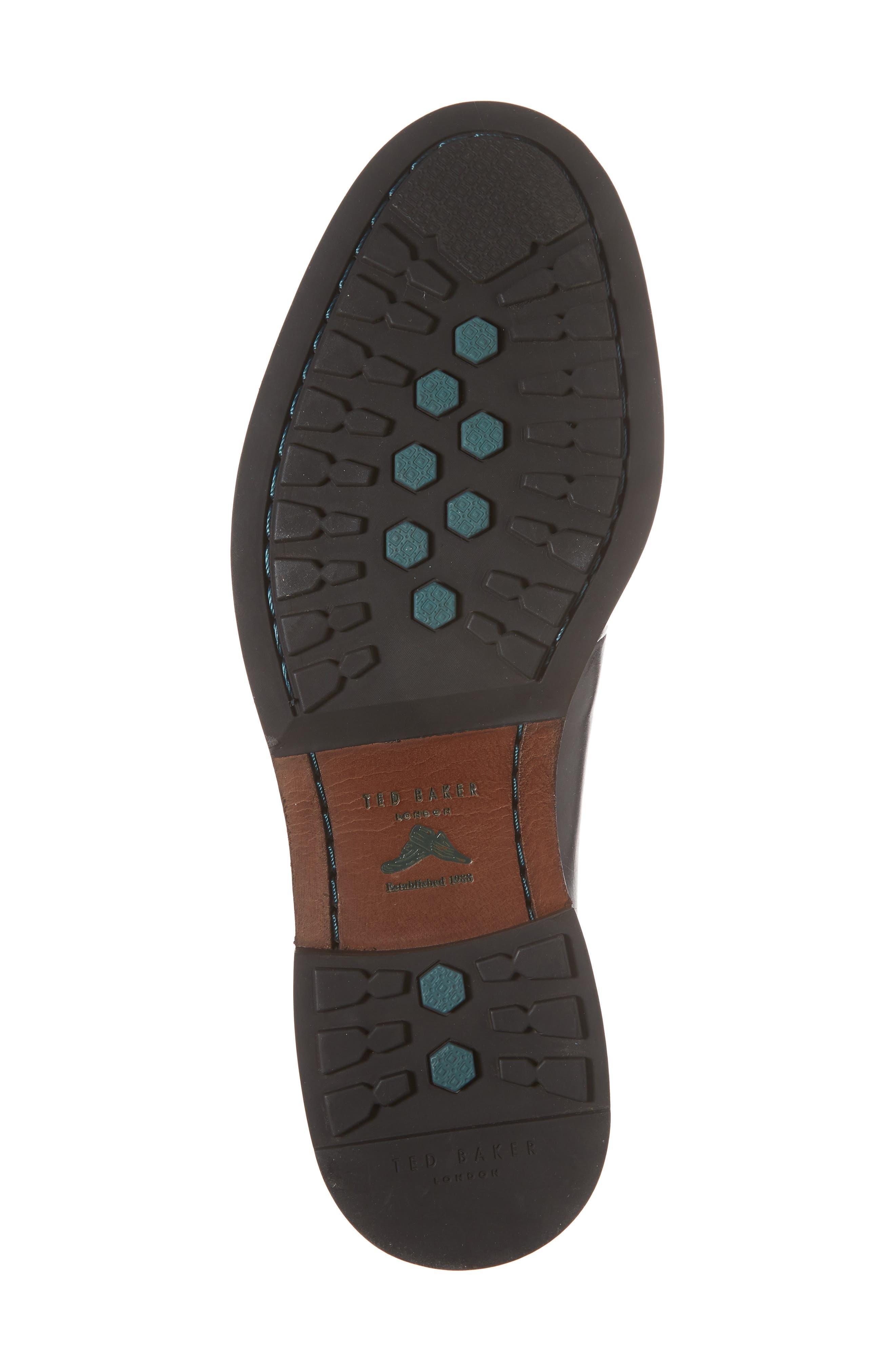 Silice Plain Toe Derby,                             Alternate thumbnail 6, color,                             BLACK LEATHER