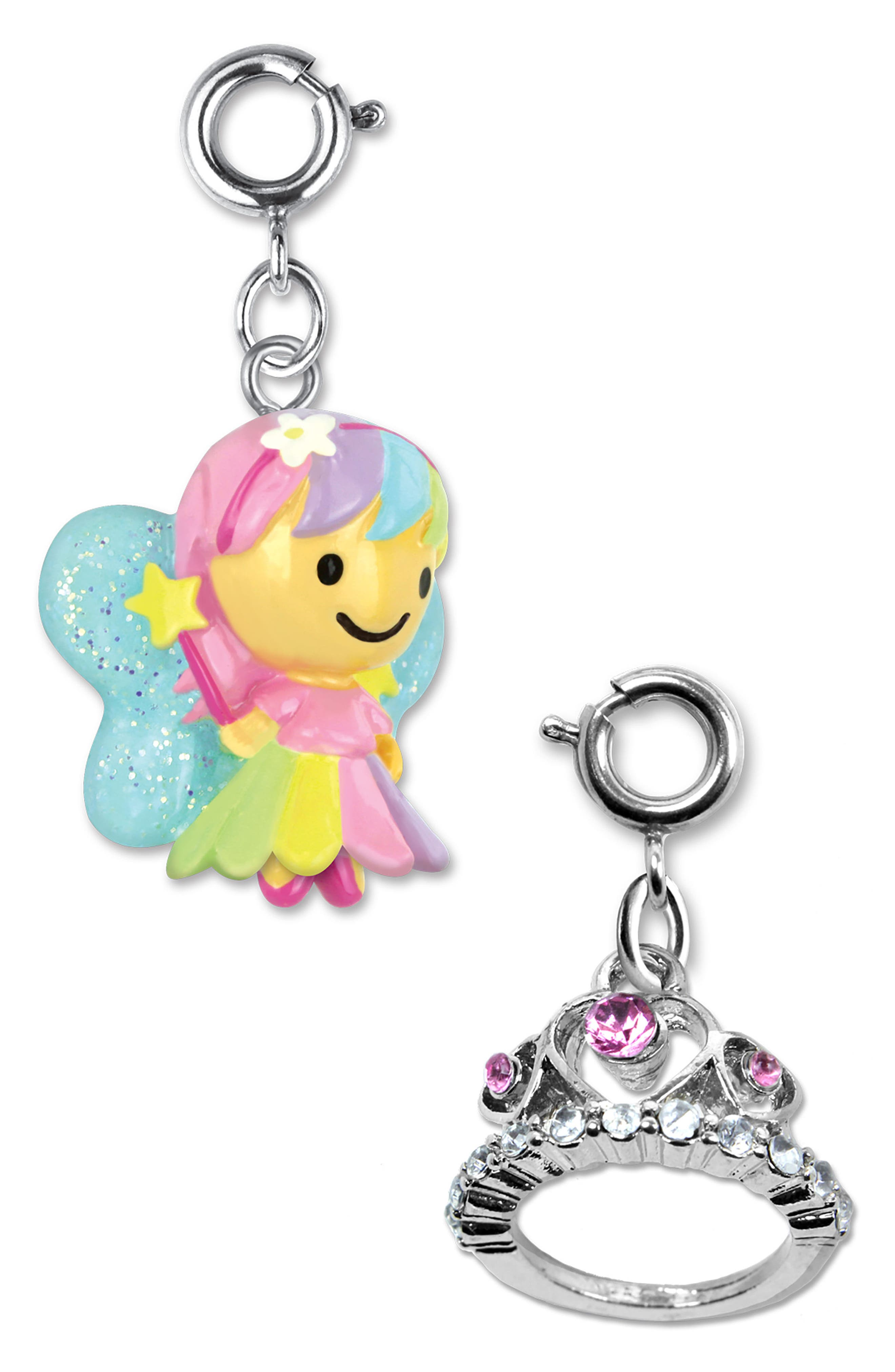 CHARM IT!<sup>®</sup> 2-Pack Glitter Fairy & Tiara Charms,                             Alternate thumbnail 2, color,                             MULTI