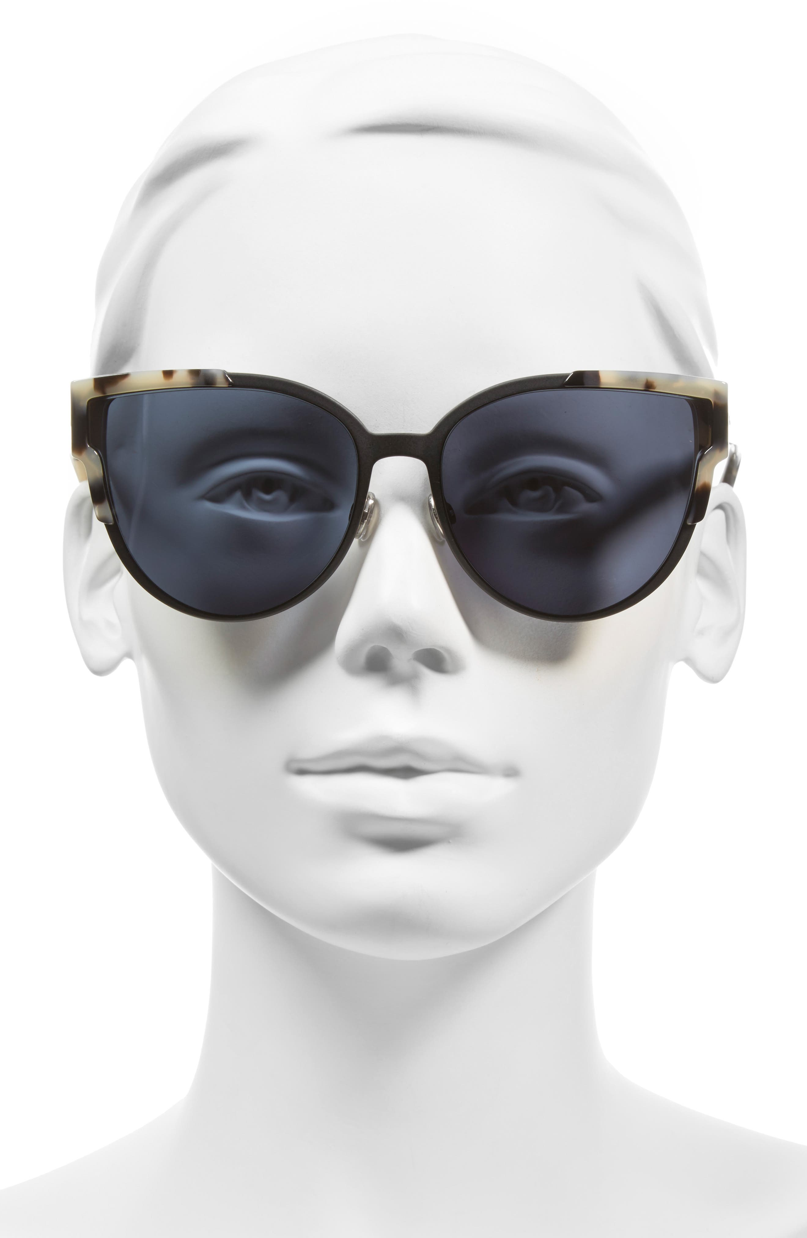 Wildly Dior 60mm Cat Eye Sunglasses,                             Alternate thumbnail 3, color,                             200