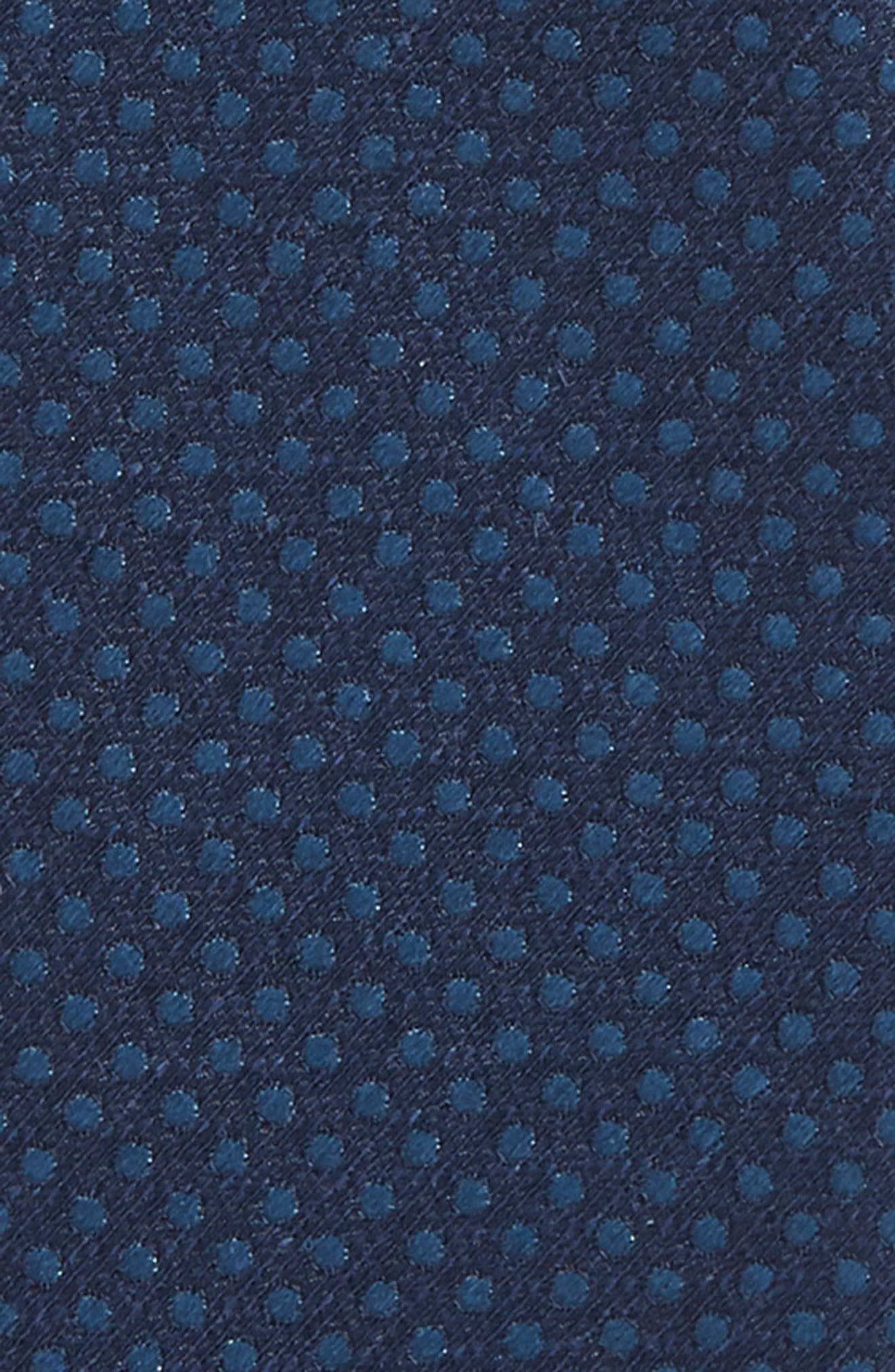 Dotted Spin Silk & Linen Bow Tie,                             Alternate thumbnail 10, color,