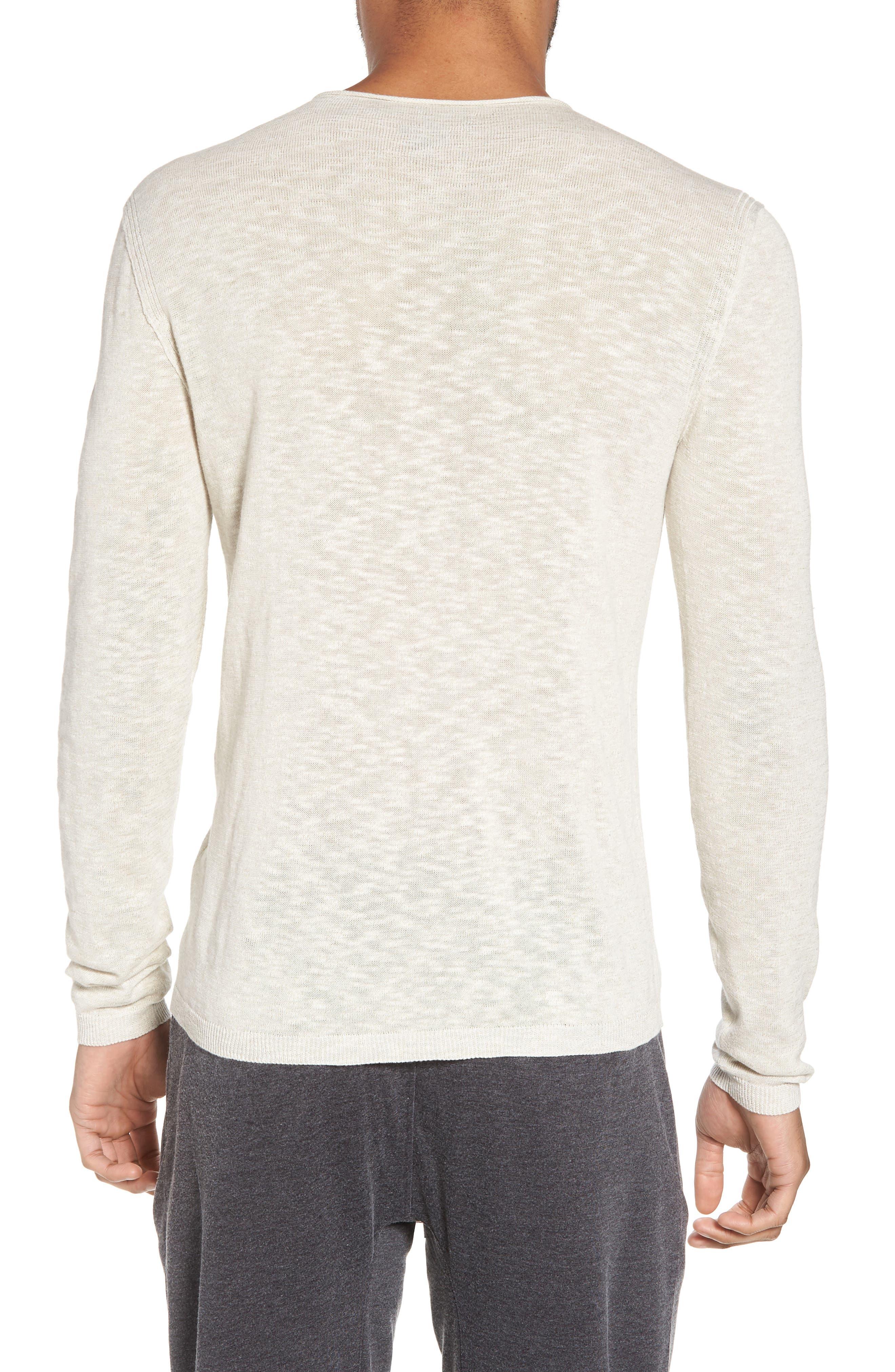 Slim Fit Cotton Blend Sweater,                             Alternate thumbnail 3, color,