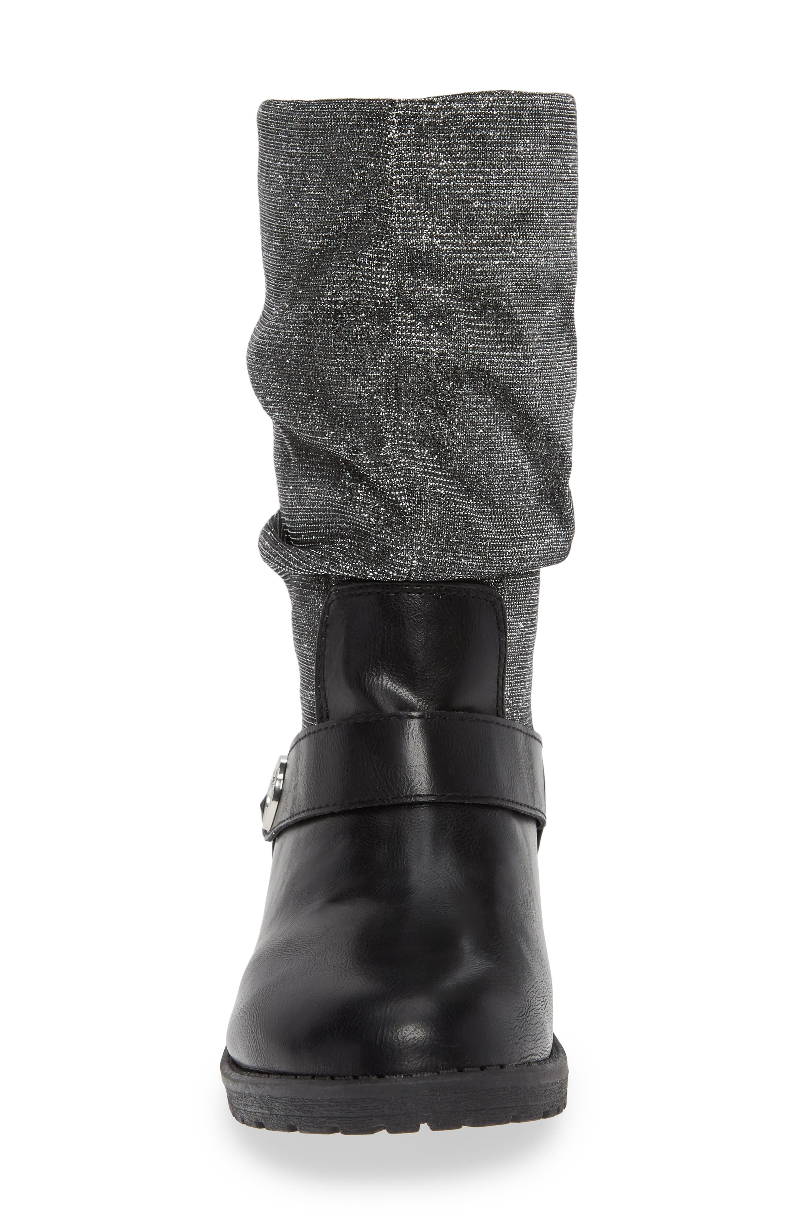 Slouchy Boot,                             Alternate thumbnail 4, color,                             BLACK