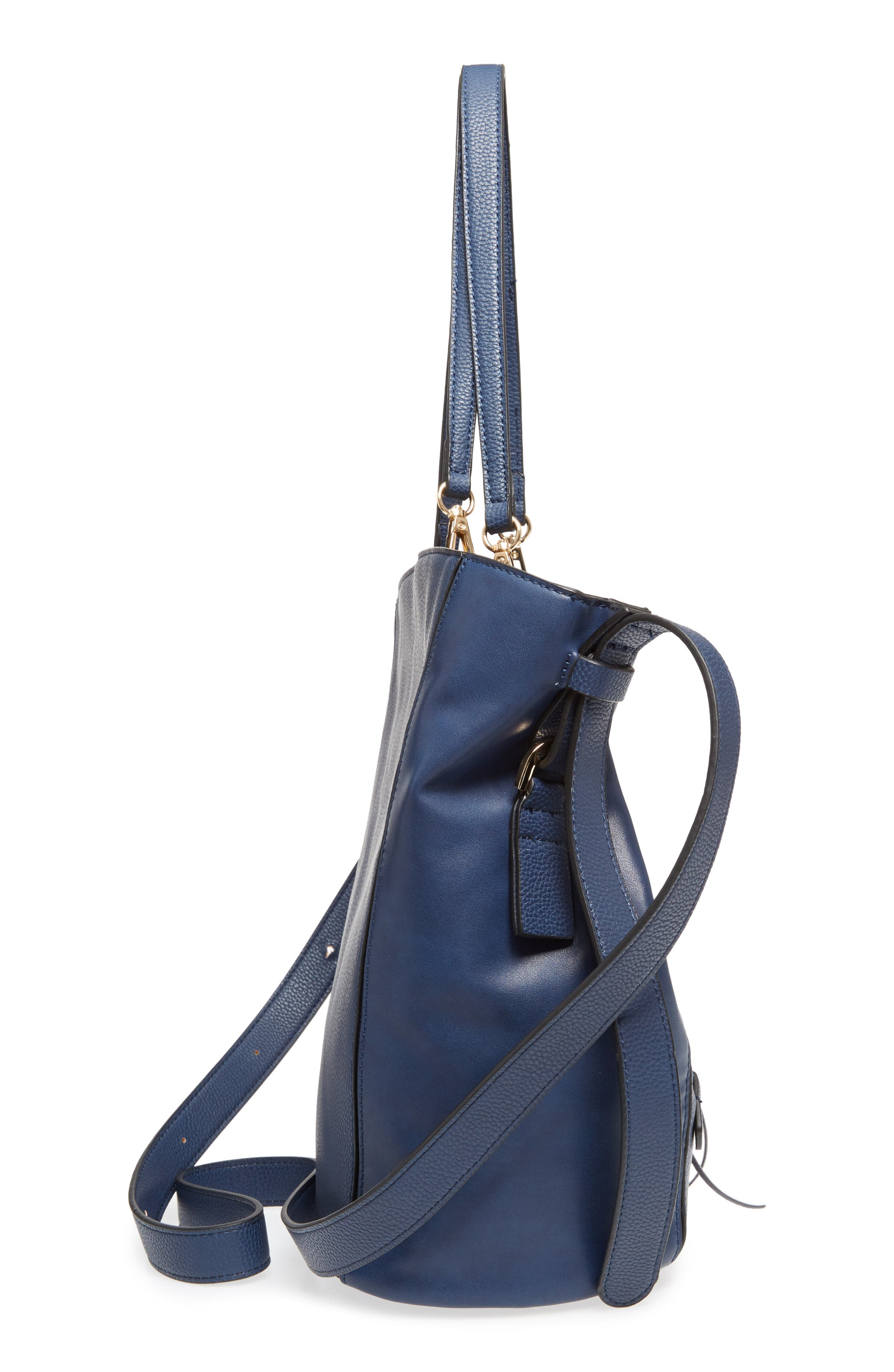 SR Squared by Sondra Roberts Faux Leather Tote,                             Alternate thumbnail 5, color,                             410
