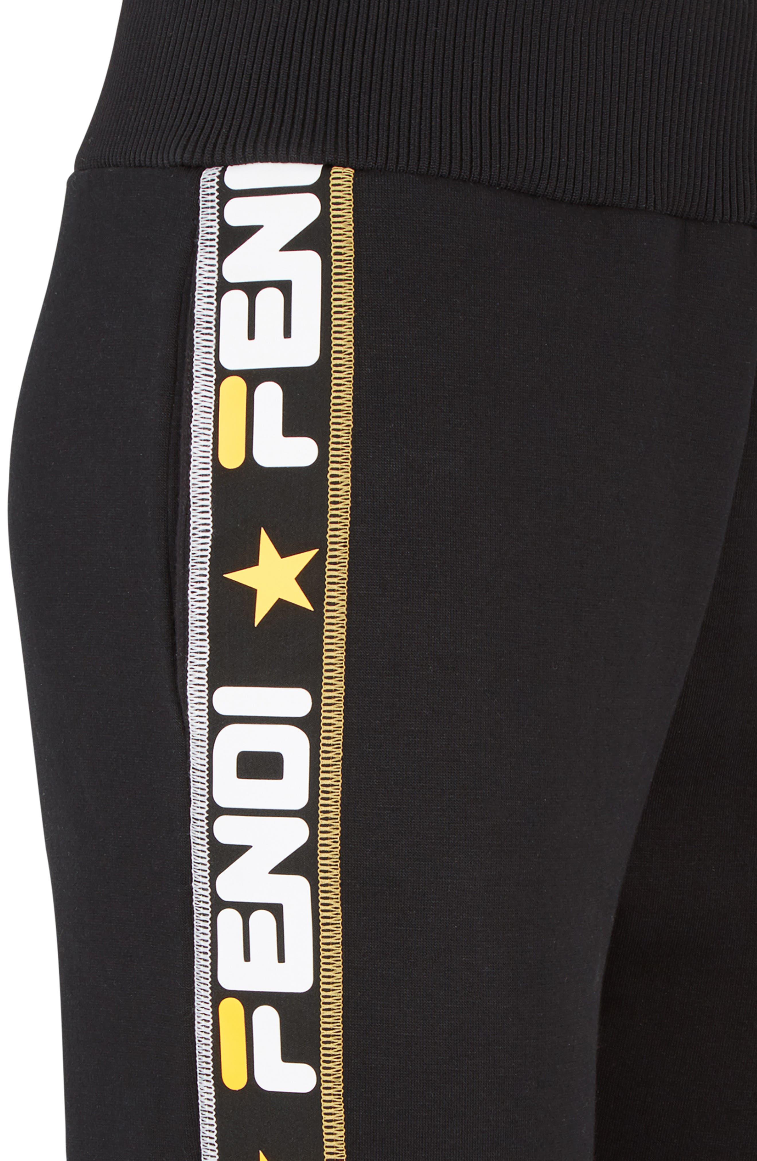 FENDI,                             x FILA Mania Logo Jersey Track Pants,                             Alternate thumbnail 8, color,                             BLACK