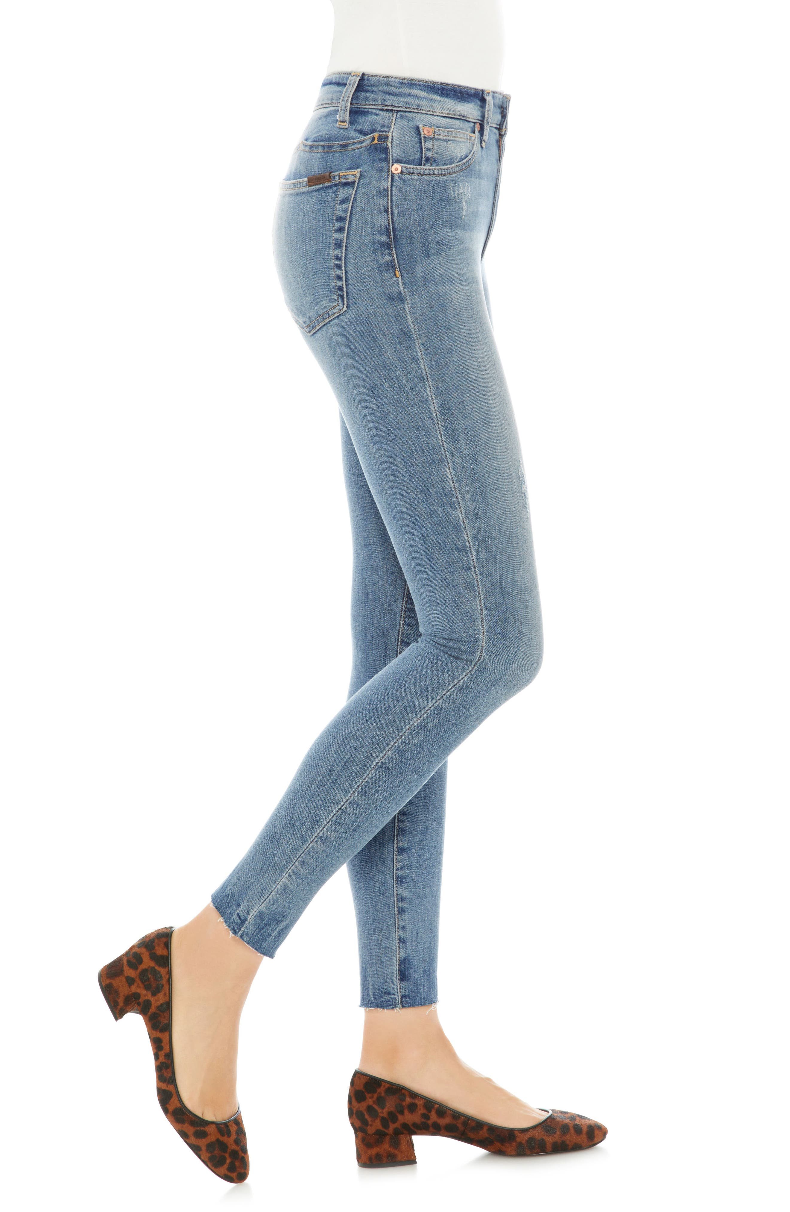Charlie Raw Hem Ankle Skinny Jeans,                             Alternate thumbnail 3, color,                             RIDLEY