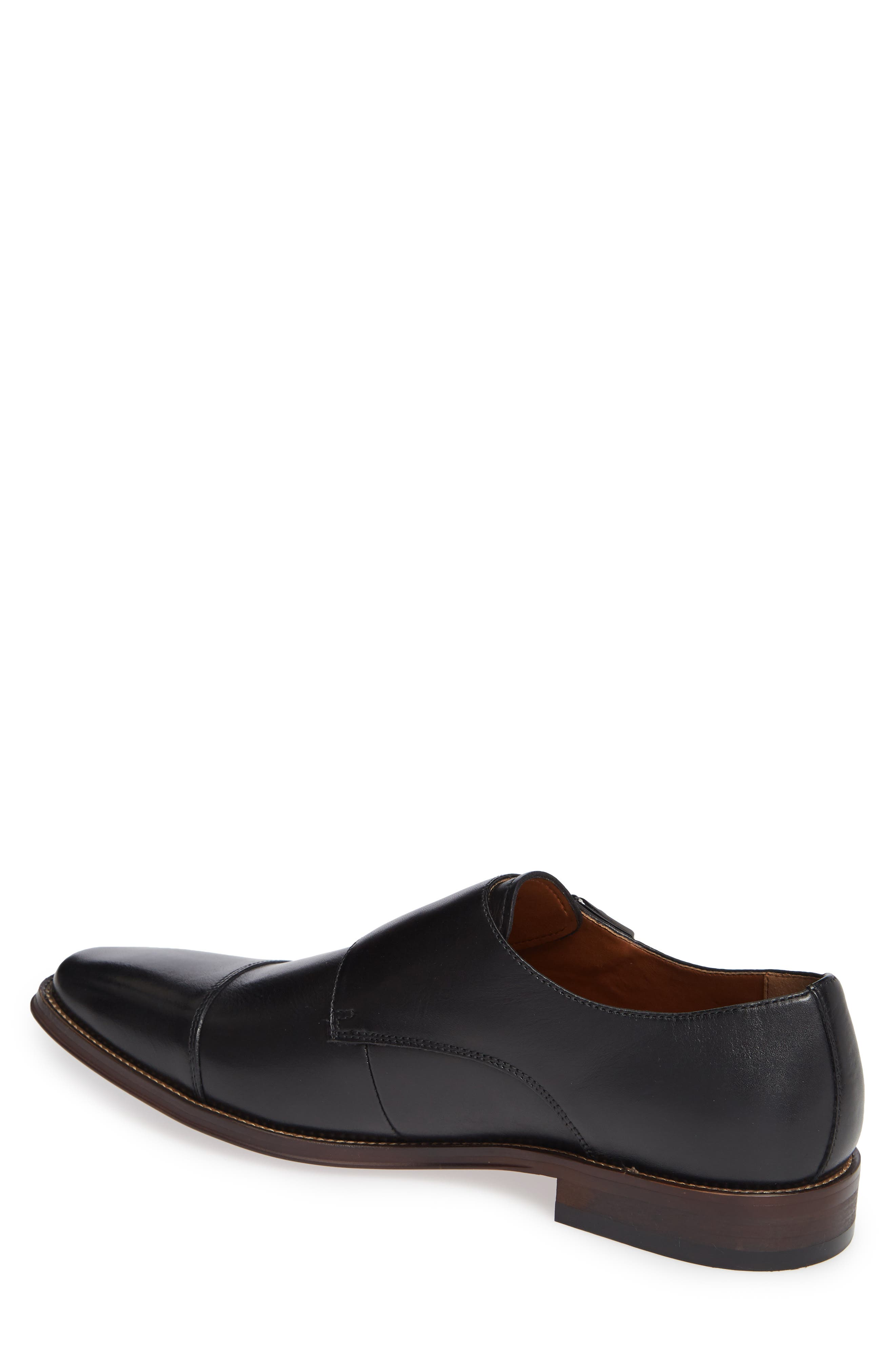 Remy Monk Strap Slip-On,                             Alternate thumbnail 2, color,                             BLACK LEATHER