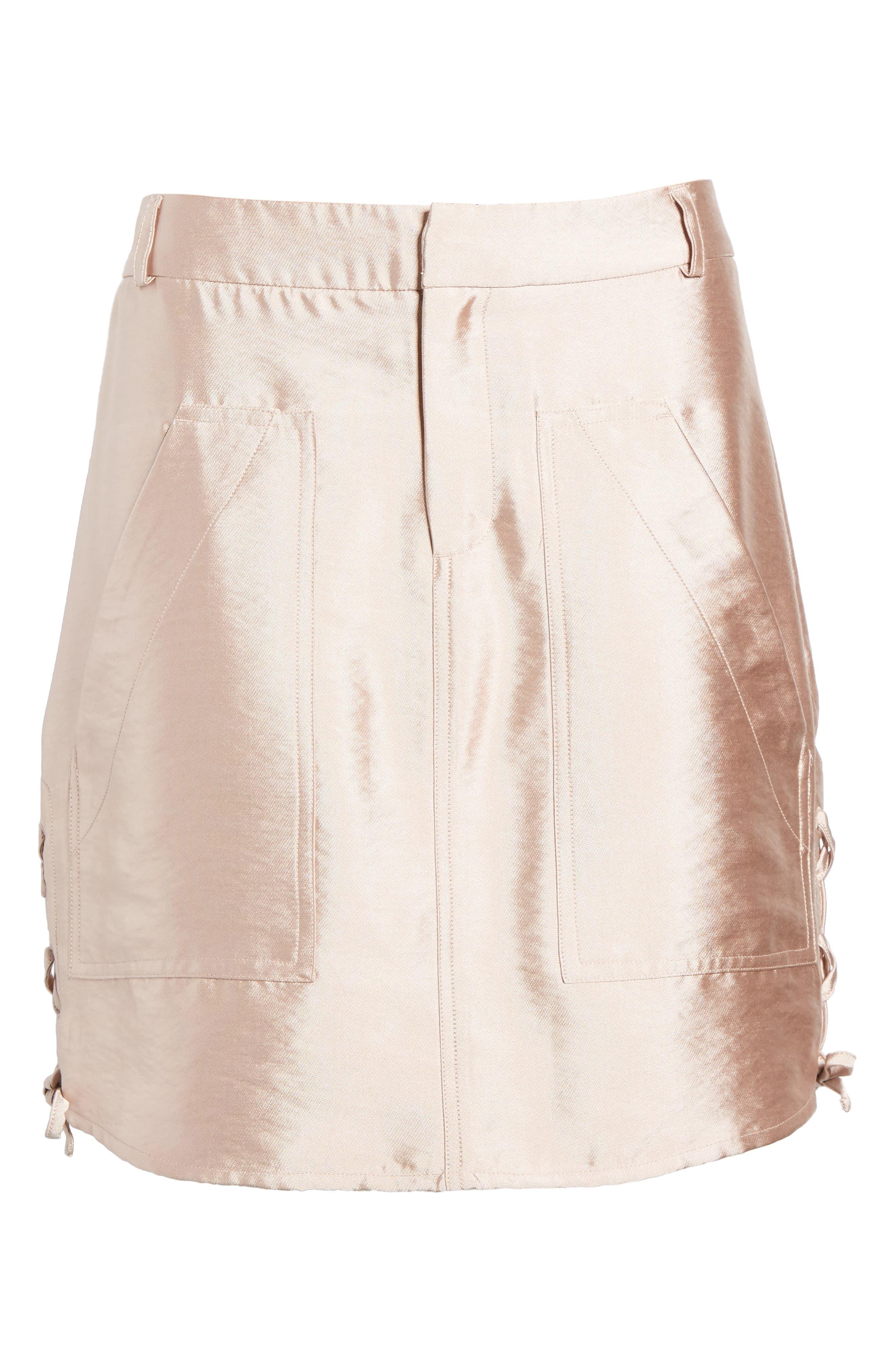 Shiny Safari Skirt,                             Alternate thumbnail 6, color,                             650