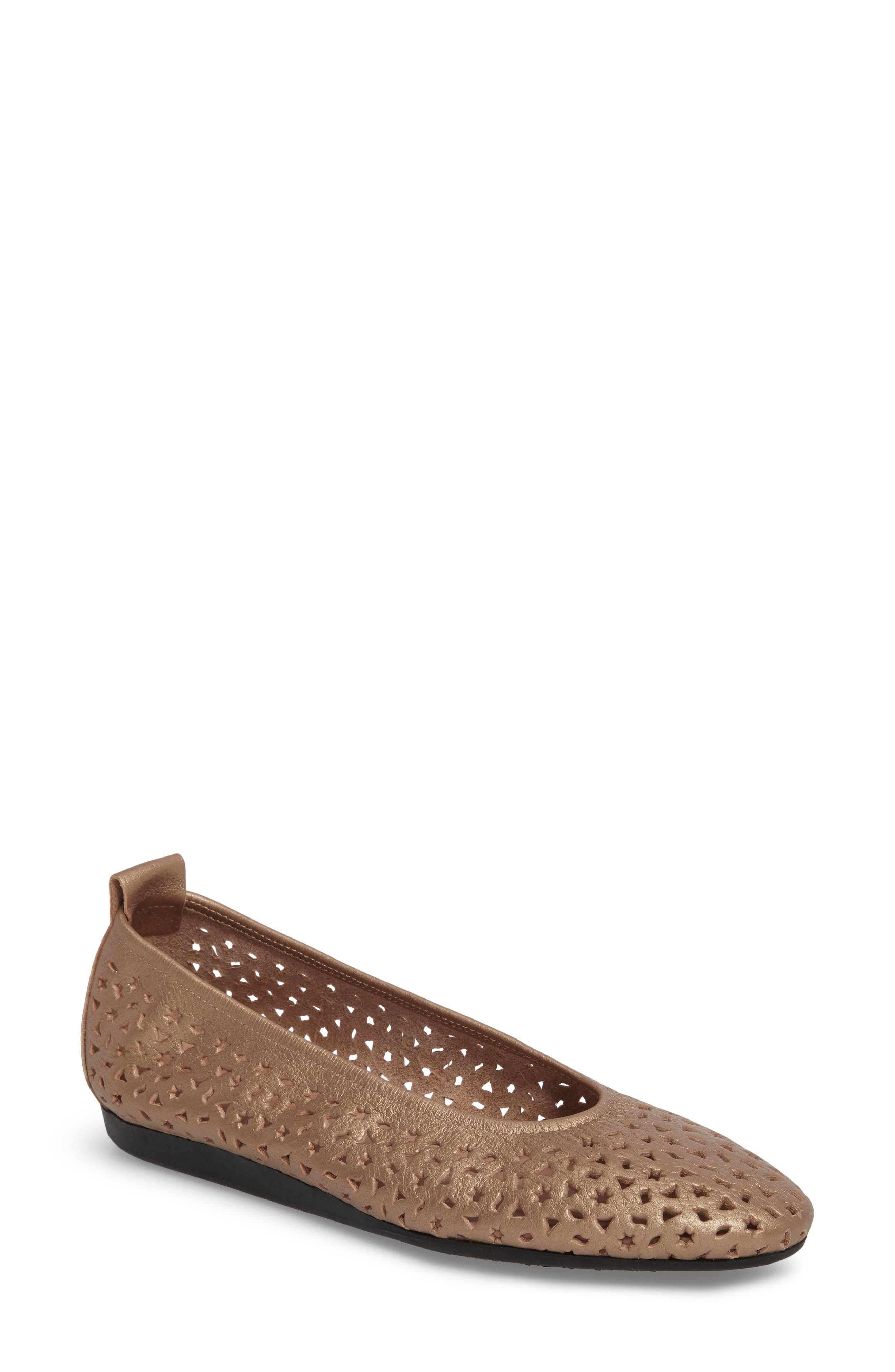 'Lilly' Flat,                             Main thumbnail 1, color,                             ANTICO/ BLUSH LEATHER