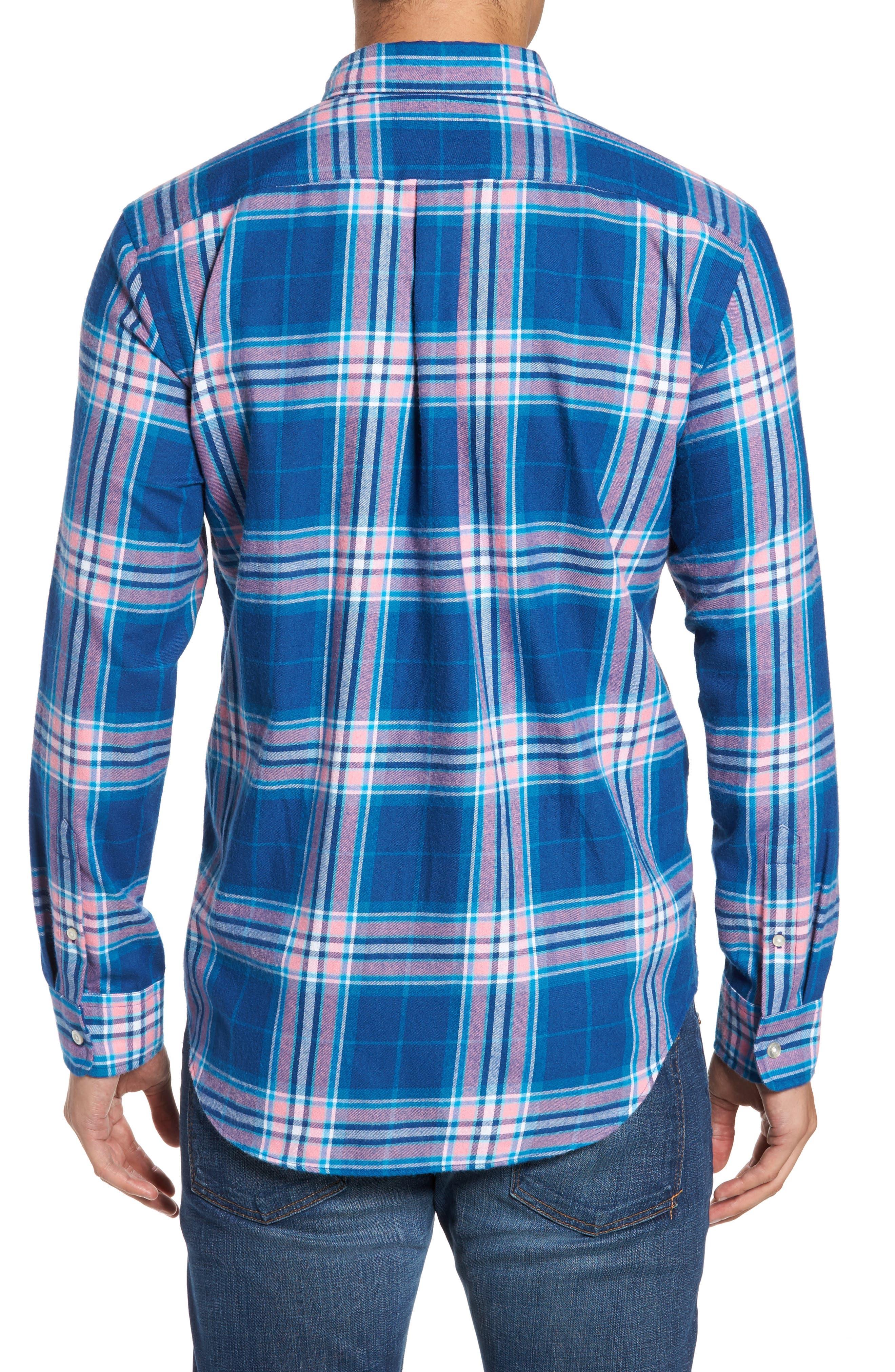 Murray Classic Fit Point Lobos Plaid Flannel Sport Shirt,                             Alternate thumbnail 2, color,                             456