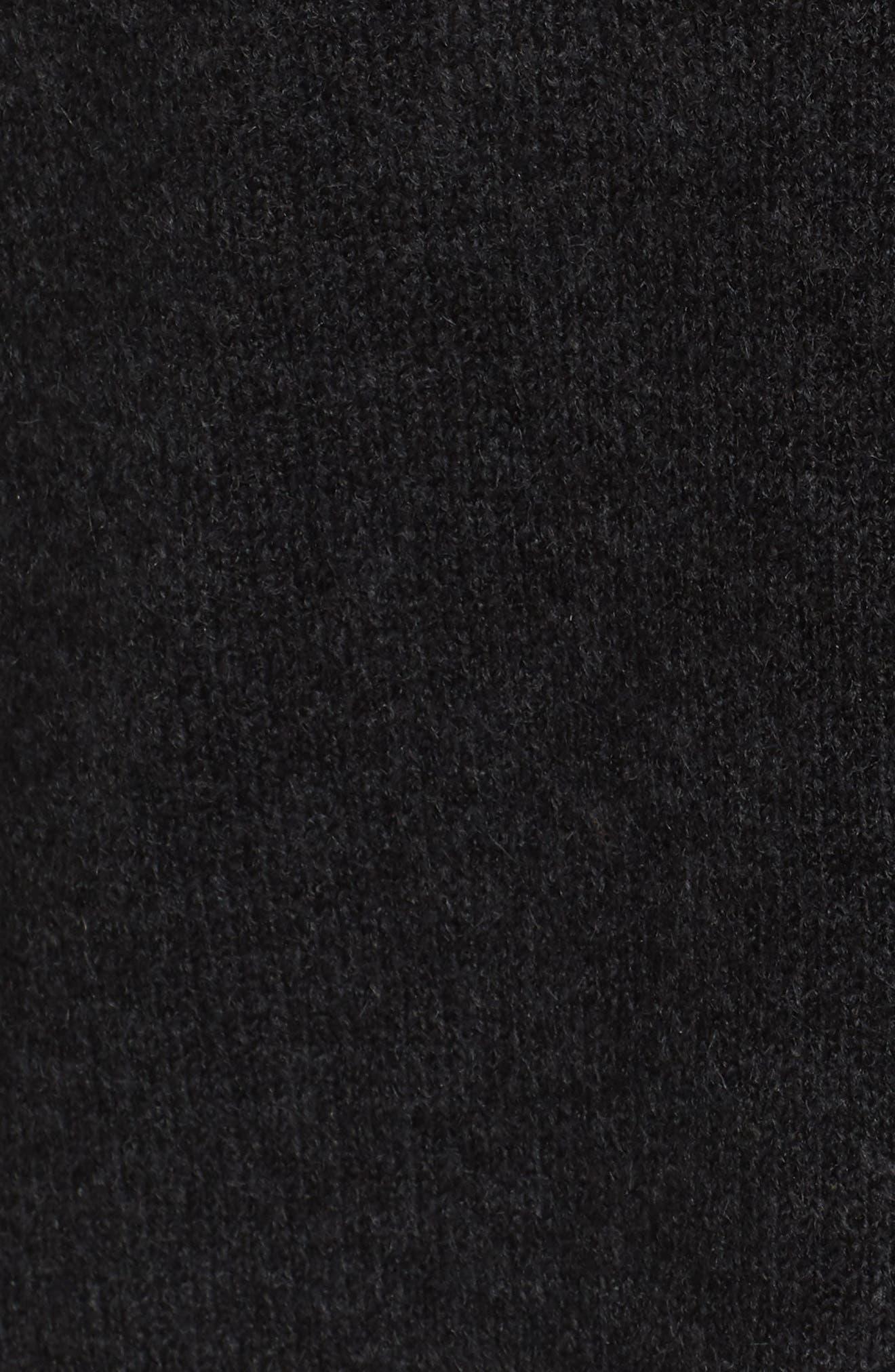 Exposed Seam Tunic Sweater,                             Alternate thumbnail 5, color,                             001