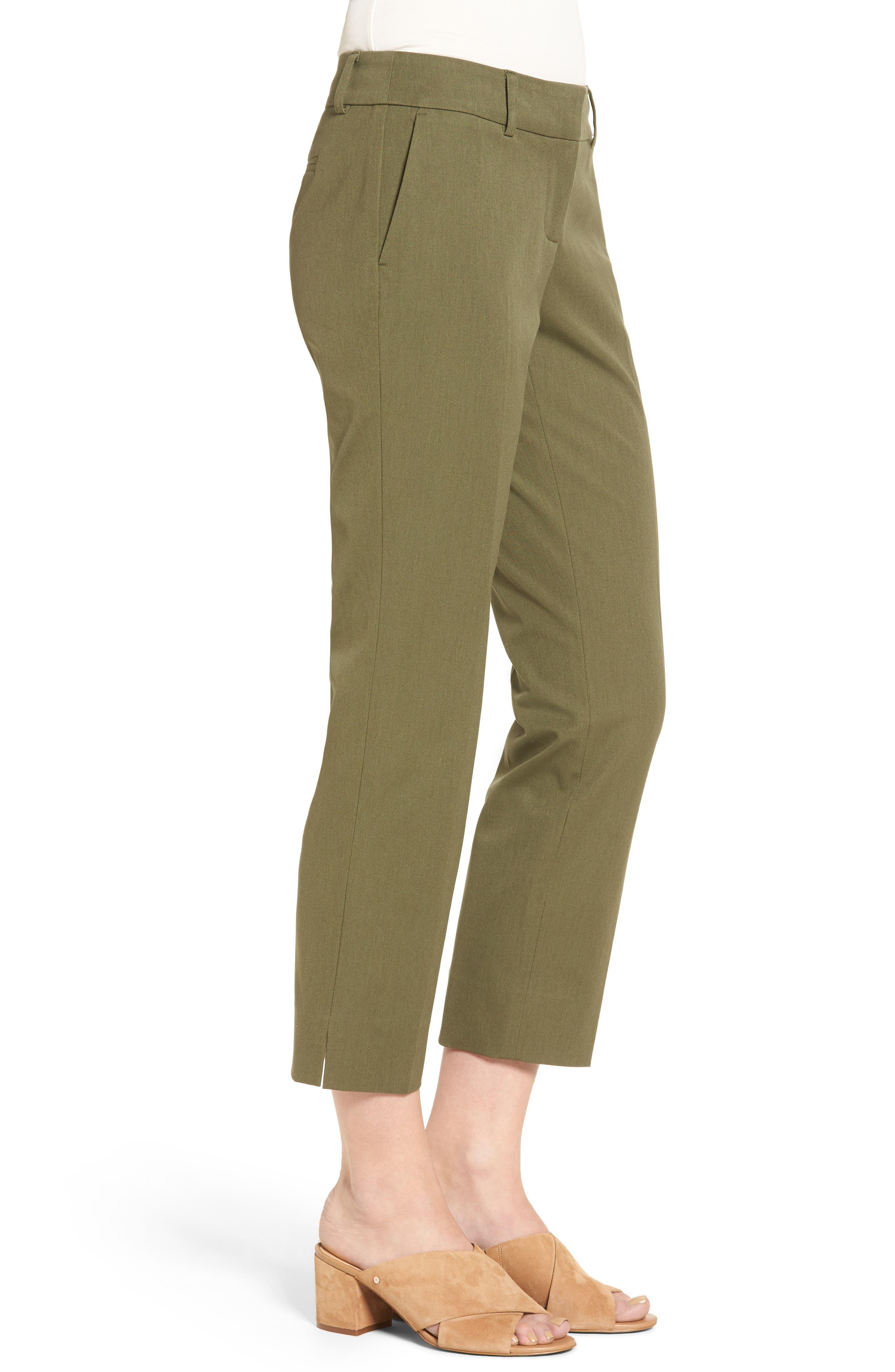 Crop Stretch Cotton Pants,                             Alternate thumbnail 55, color,