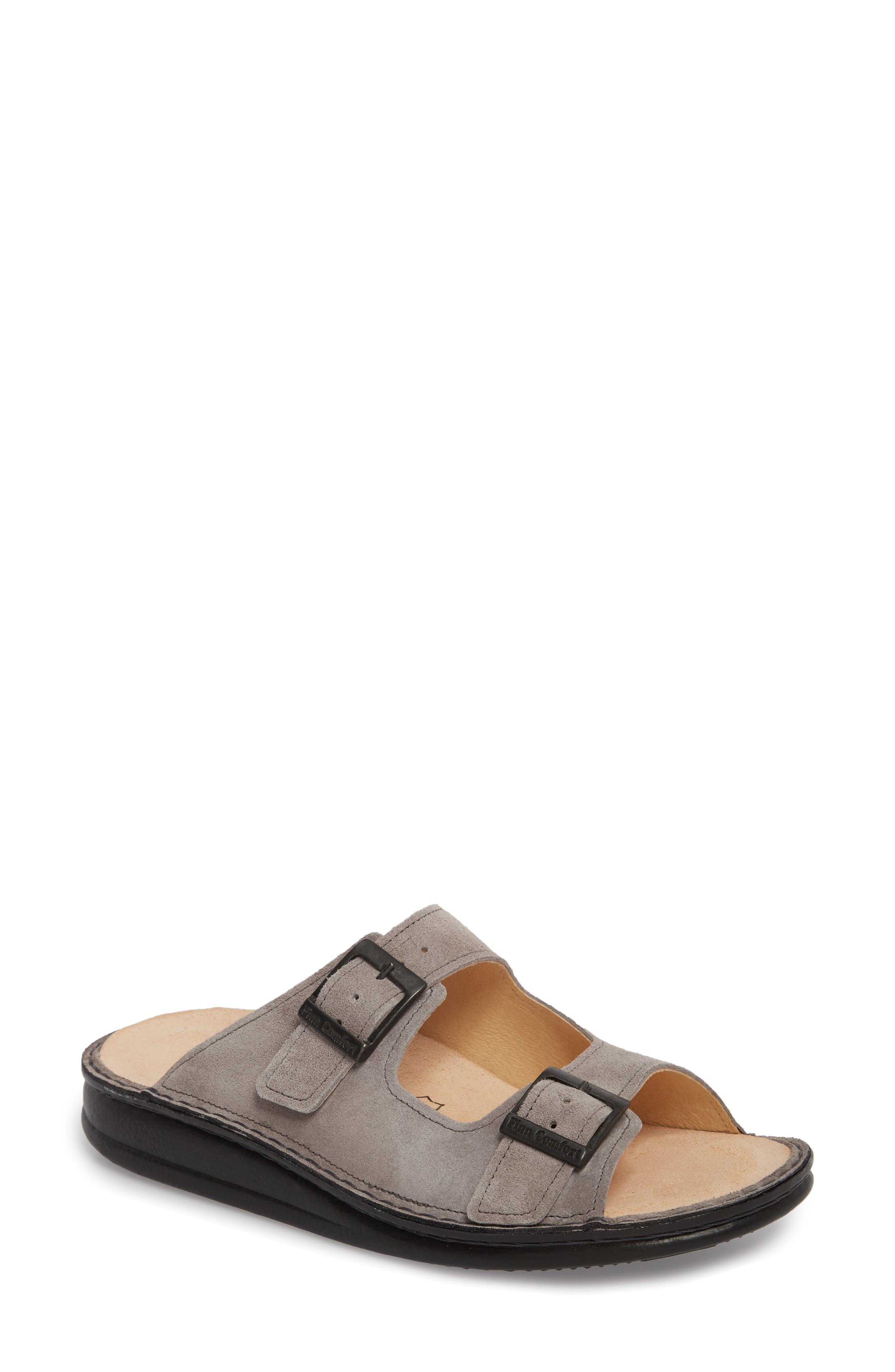 Hollister Slide Sandal,                         Main,                         color, GINGER LEATHER