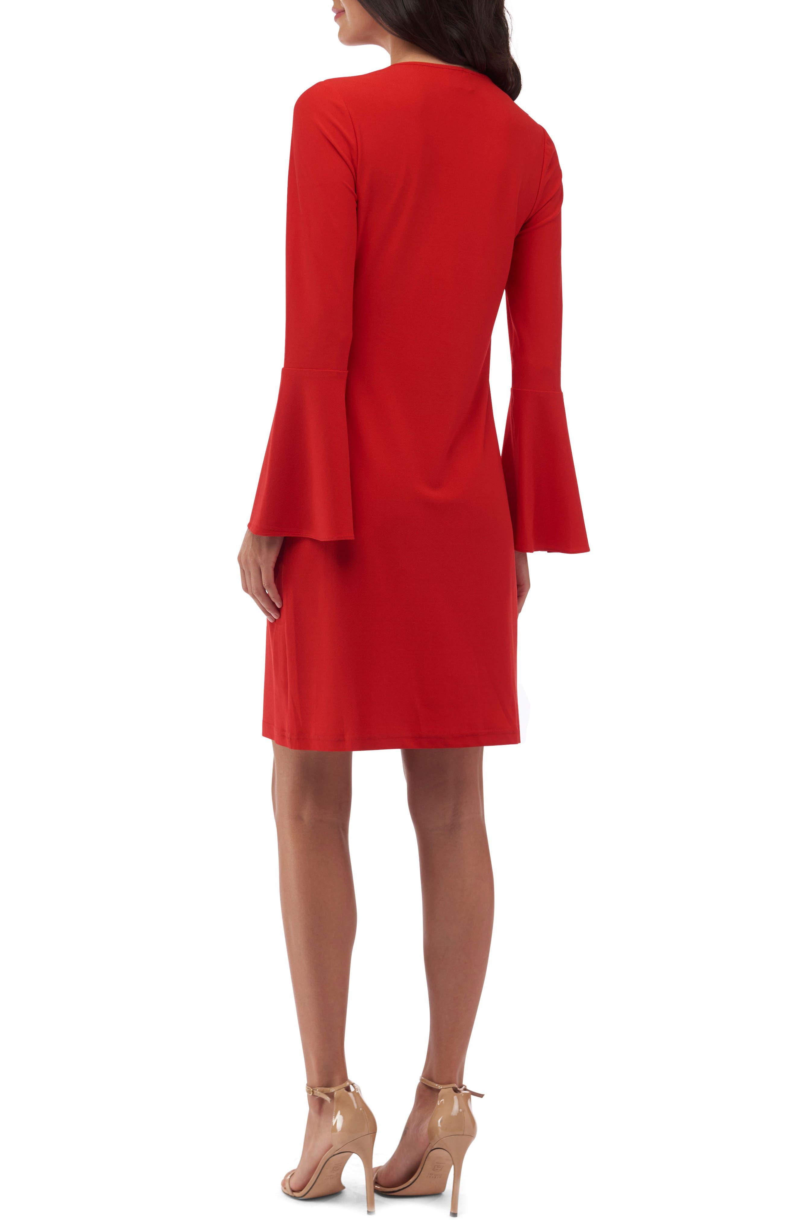 Bell Sleeve Shift Dress,                             Alternate thumbnail 2, color,                             620