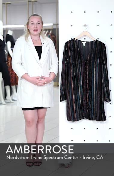 Velvet Burnout Stripe Dress, sales video thumbnail
