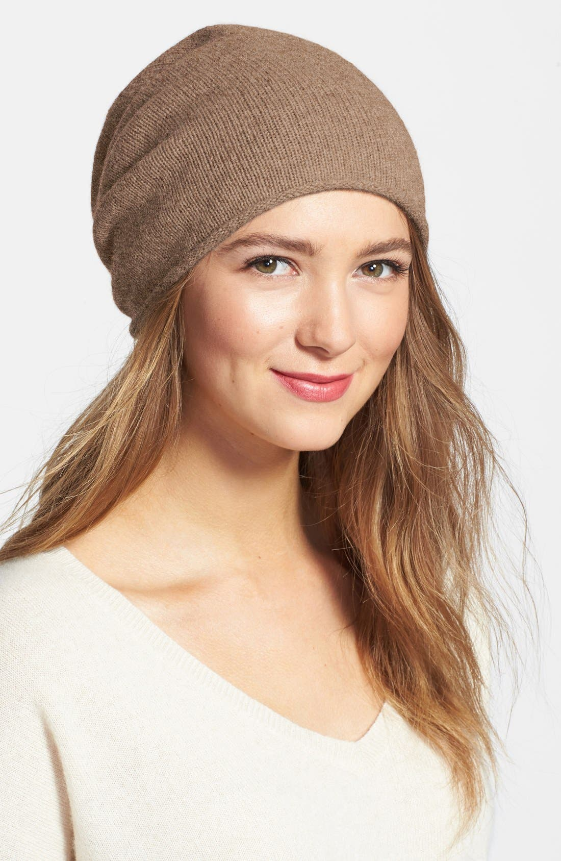 Slouchy Cashmere Beanie,                             Main thumbnail 8, color,