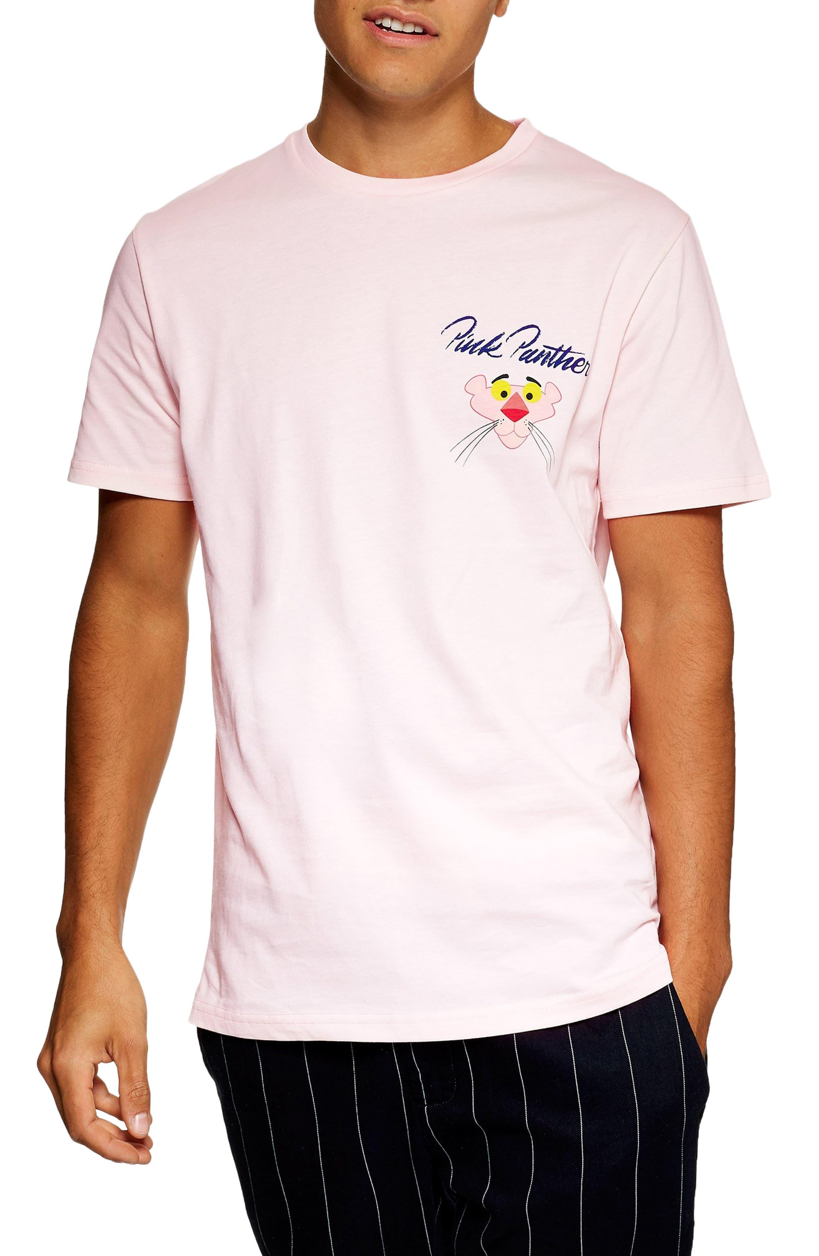 Pink Panther Graphic T-Shirt,                             Main thumbnail 1, color,                             PINK