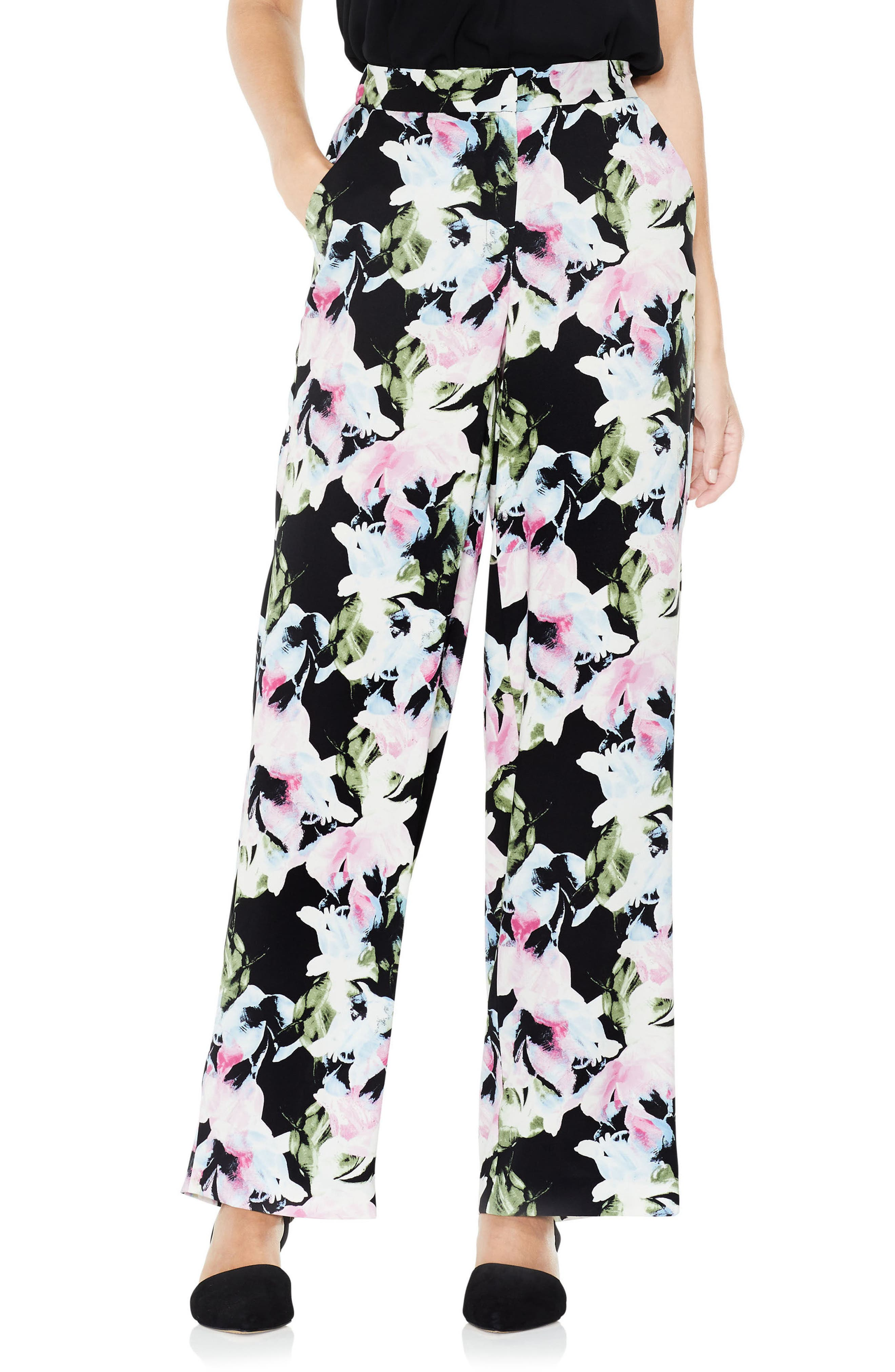Glacier Floral Wide Leg Pants,                             Main thumbnail 1, color,