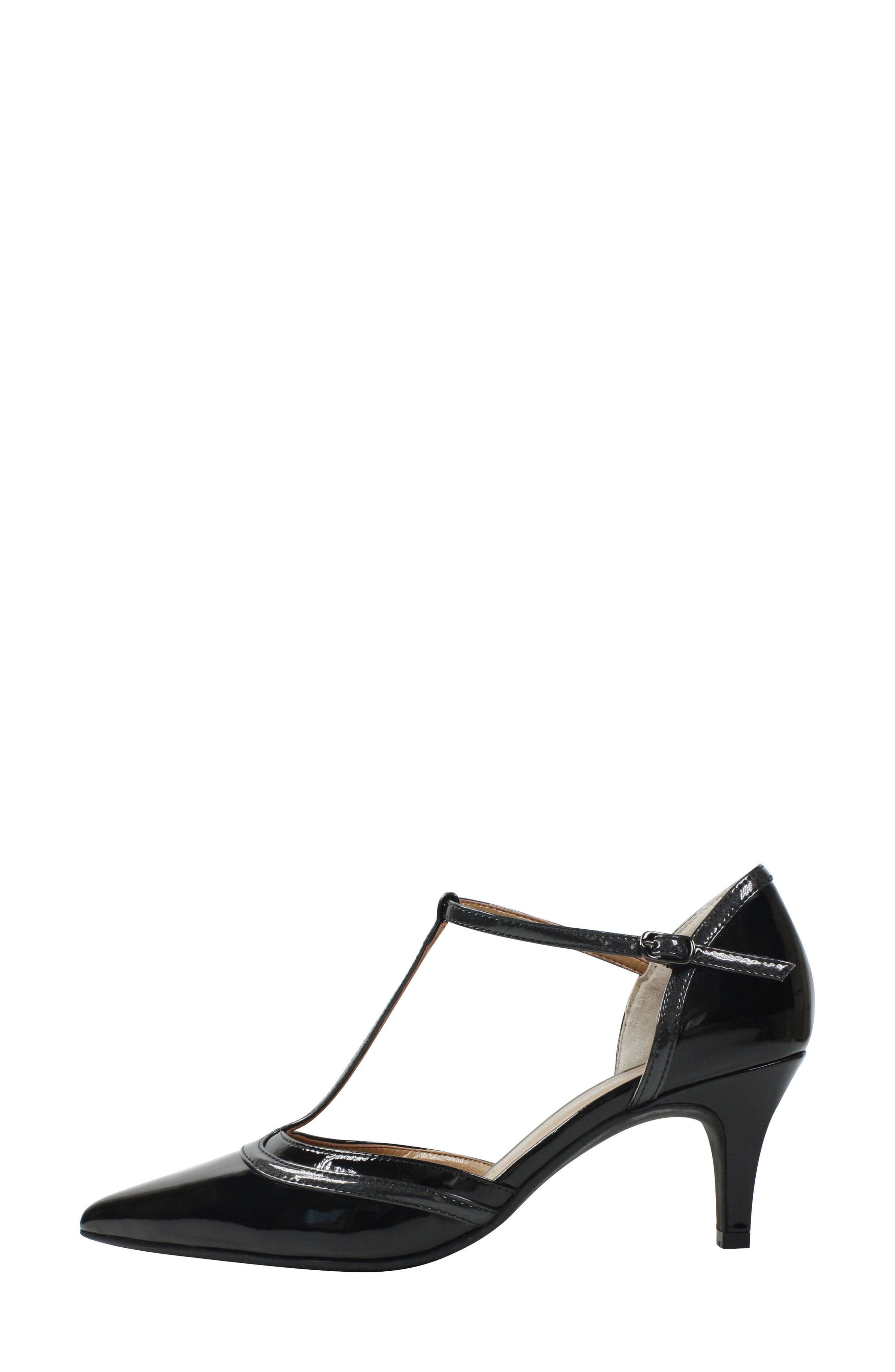 Emiliana T-Strap Pump,                             Alternate thumbnail 2, color,                             001