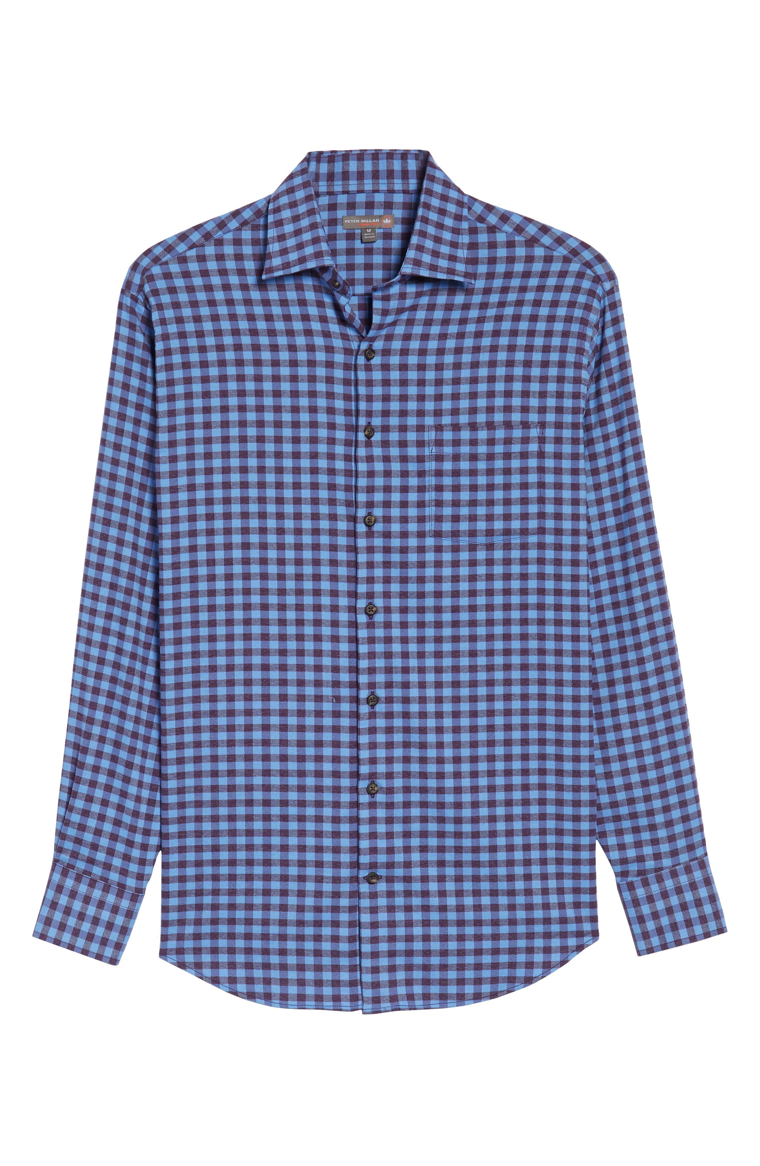 Vedder Gingham Regular Fit Performance Sport Shirt,                             Alternate thumbnail 18, color,