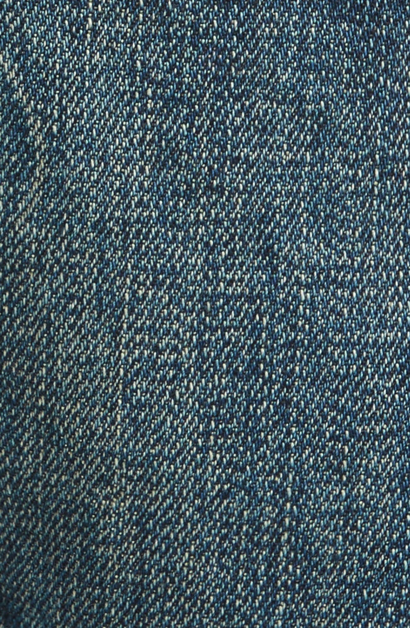 Raw Edge Crop Boyfriend Jeans,                             Alternate thumbnail 5, color,                             403