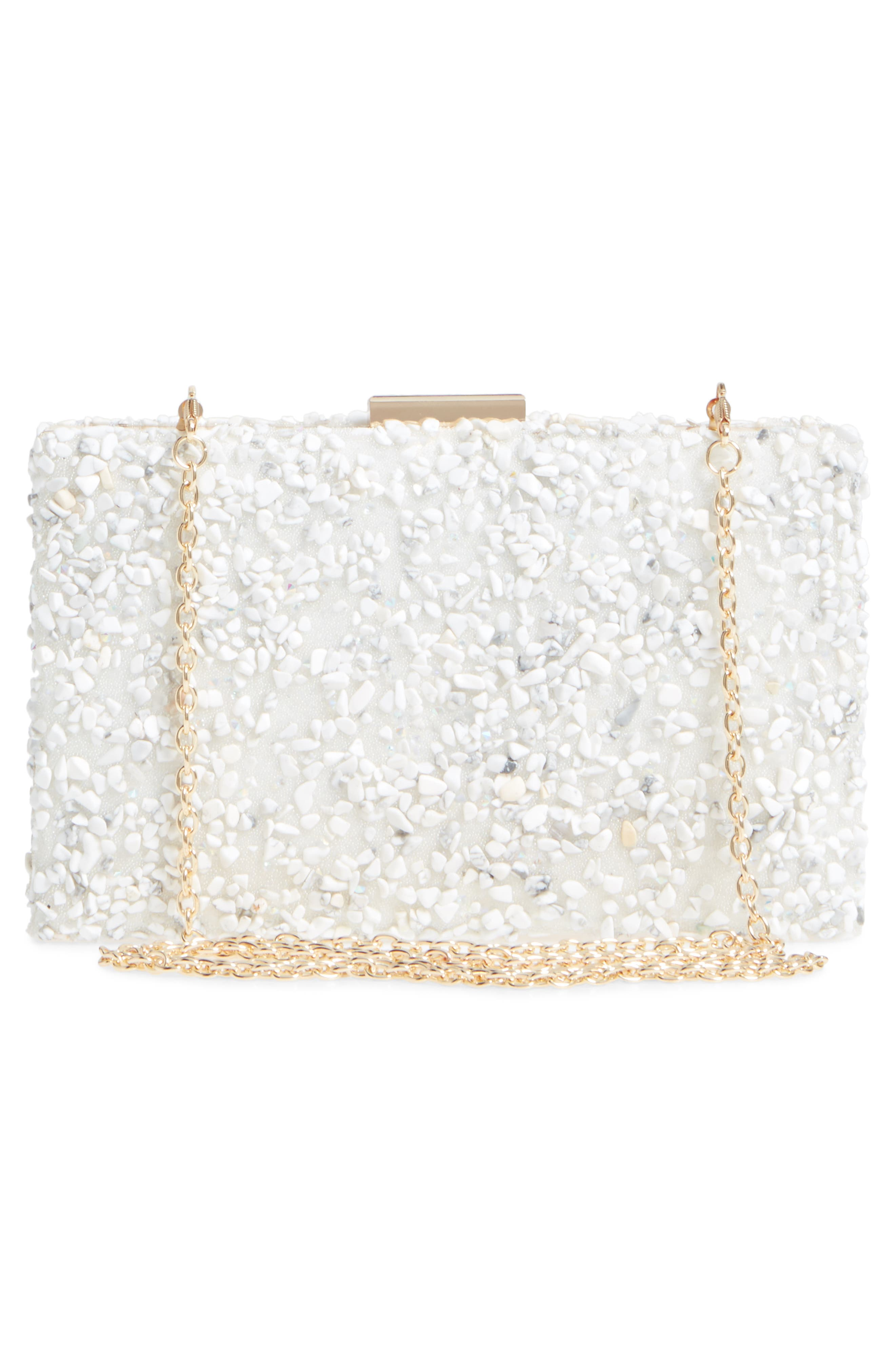 Chips Embellished Box Clutch,                             Alternate thumbnail 12, color,