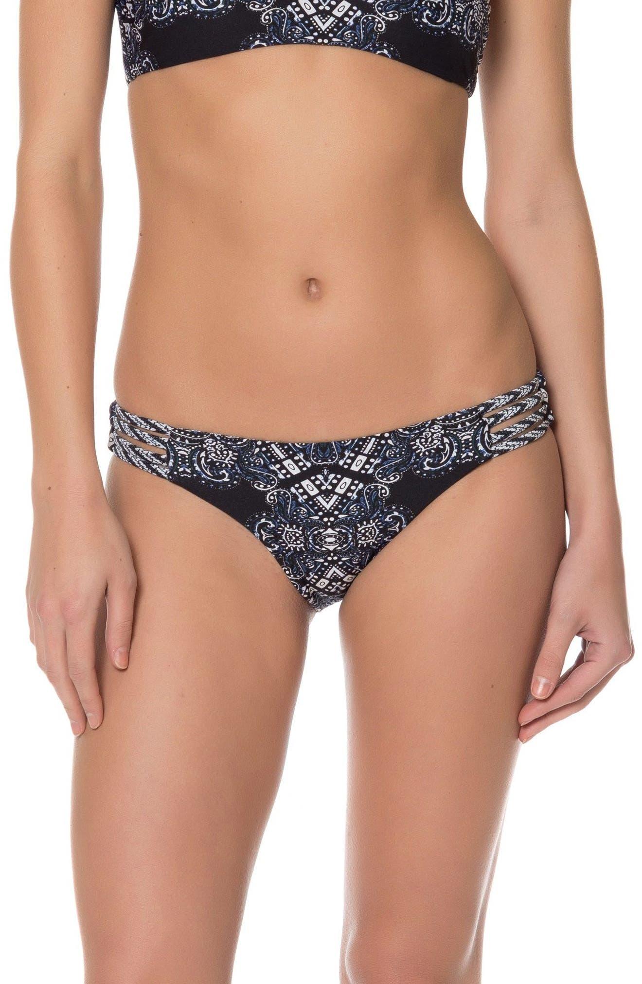 Reversible Print Bikini Bottoms,                         Main,                         color, 001