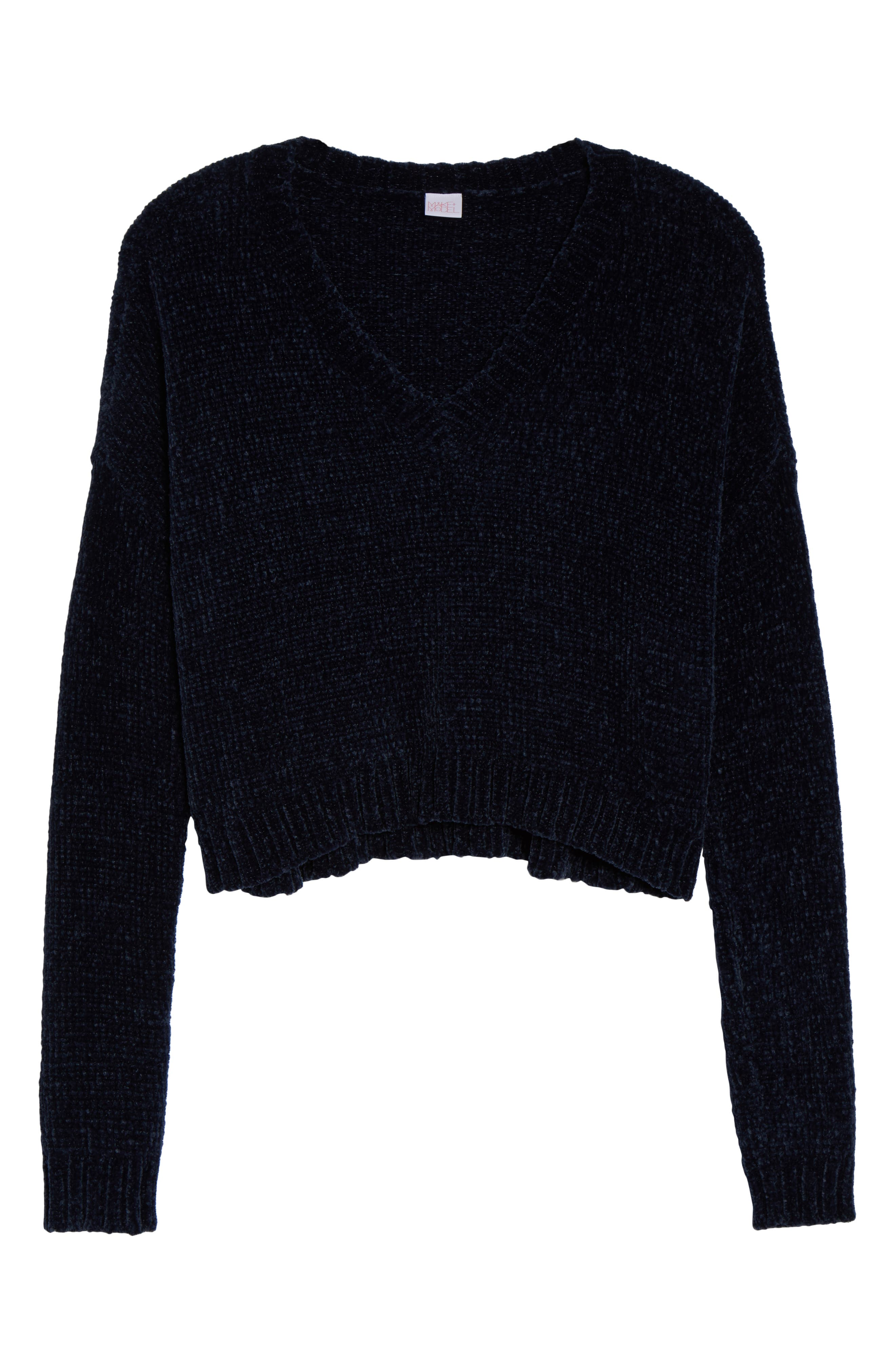 Crop Chenille Sweater,                             Alternate thumbnail 6, color,                             410