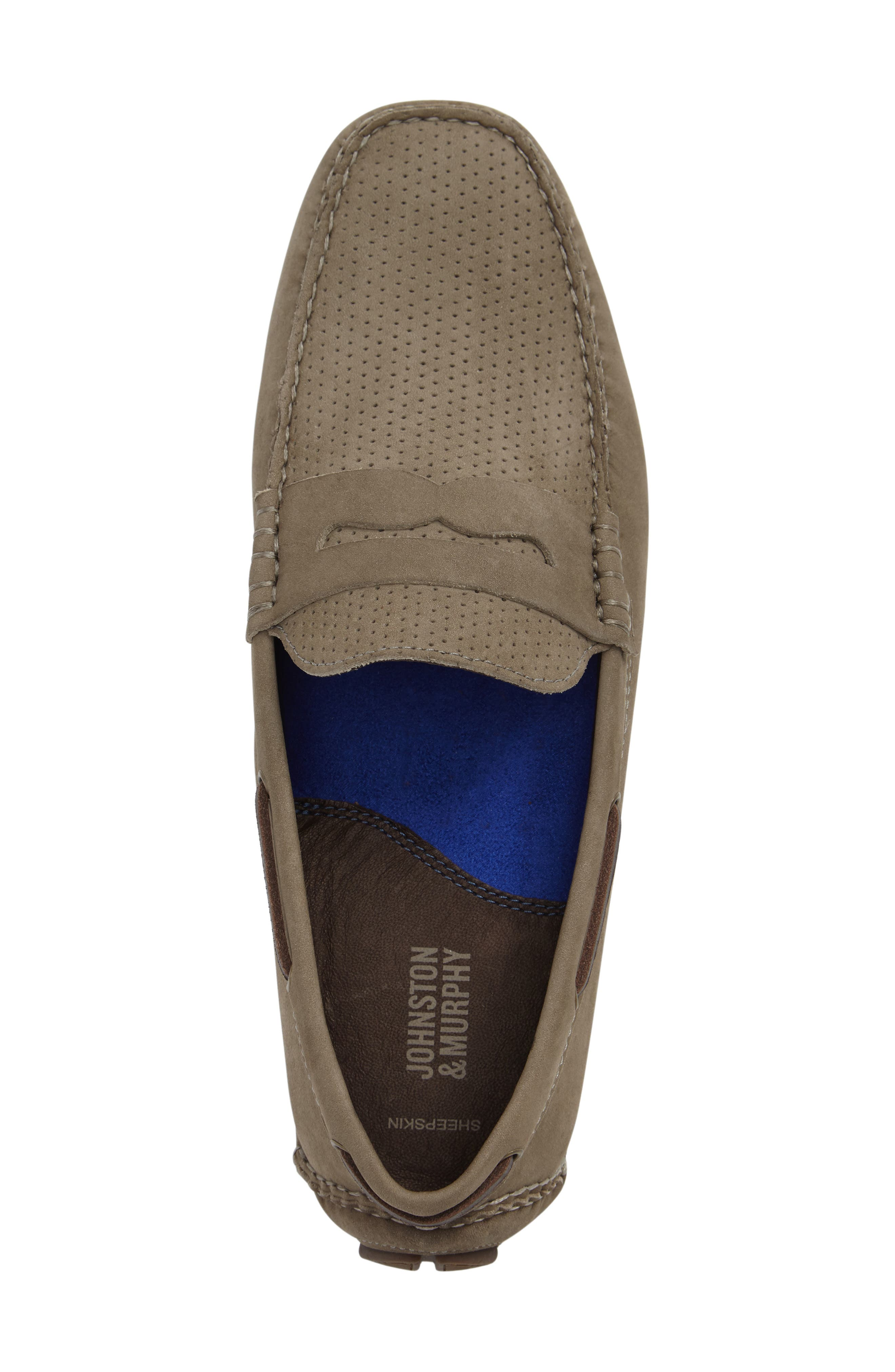 Perforated Driving Loafer,                             Alternate thumbnail 3, color,                             020