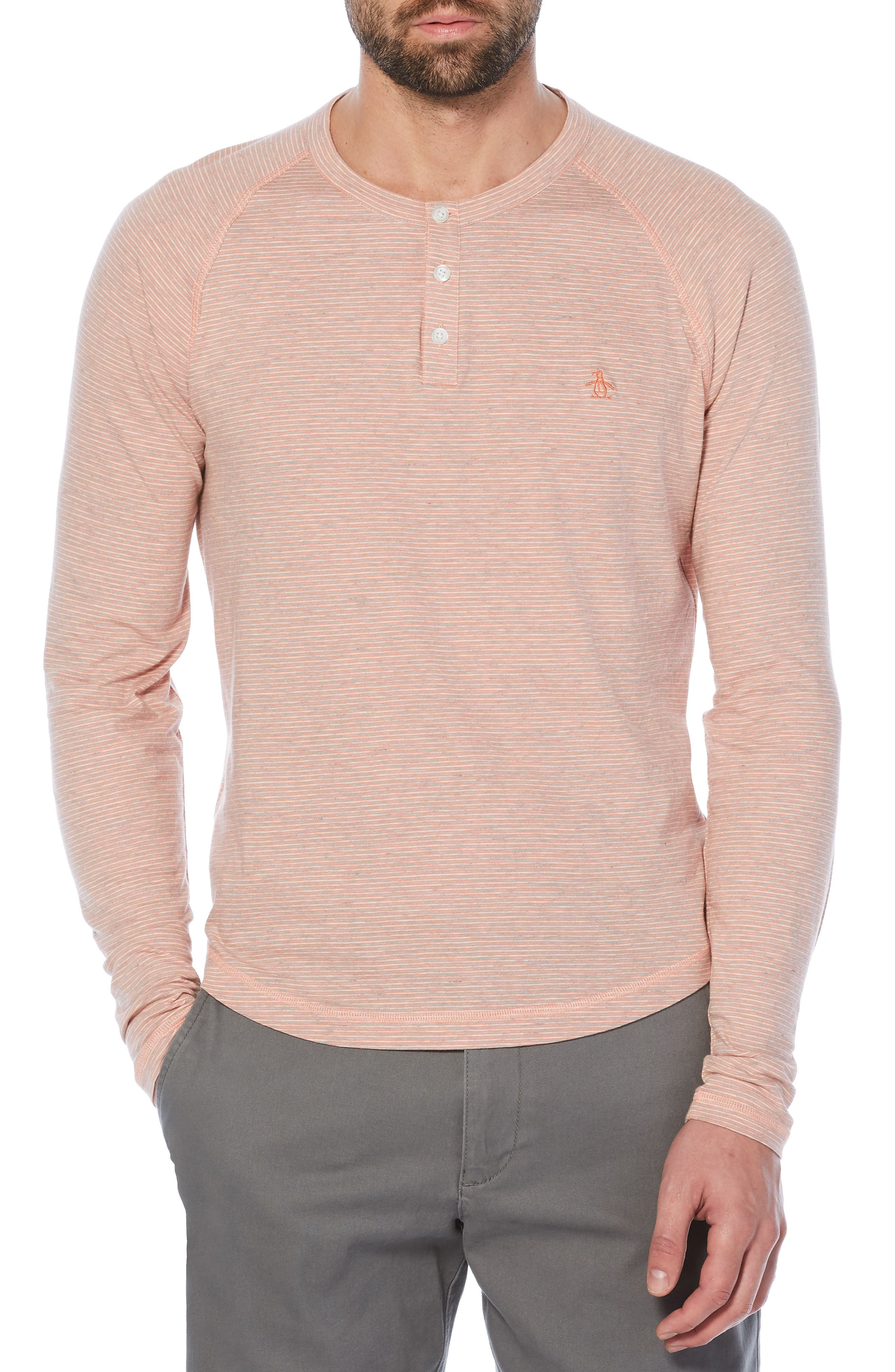 Heritage Slim Fit Feeder Henley,                             Main thumbnail 2, color,