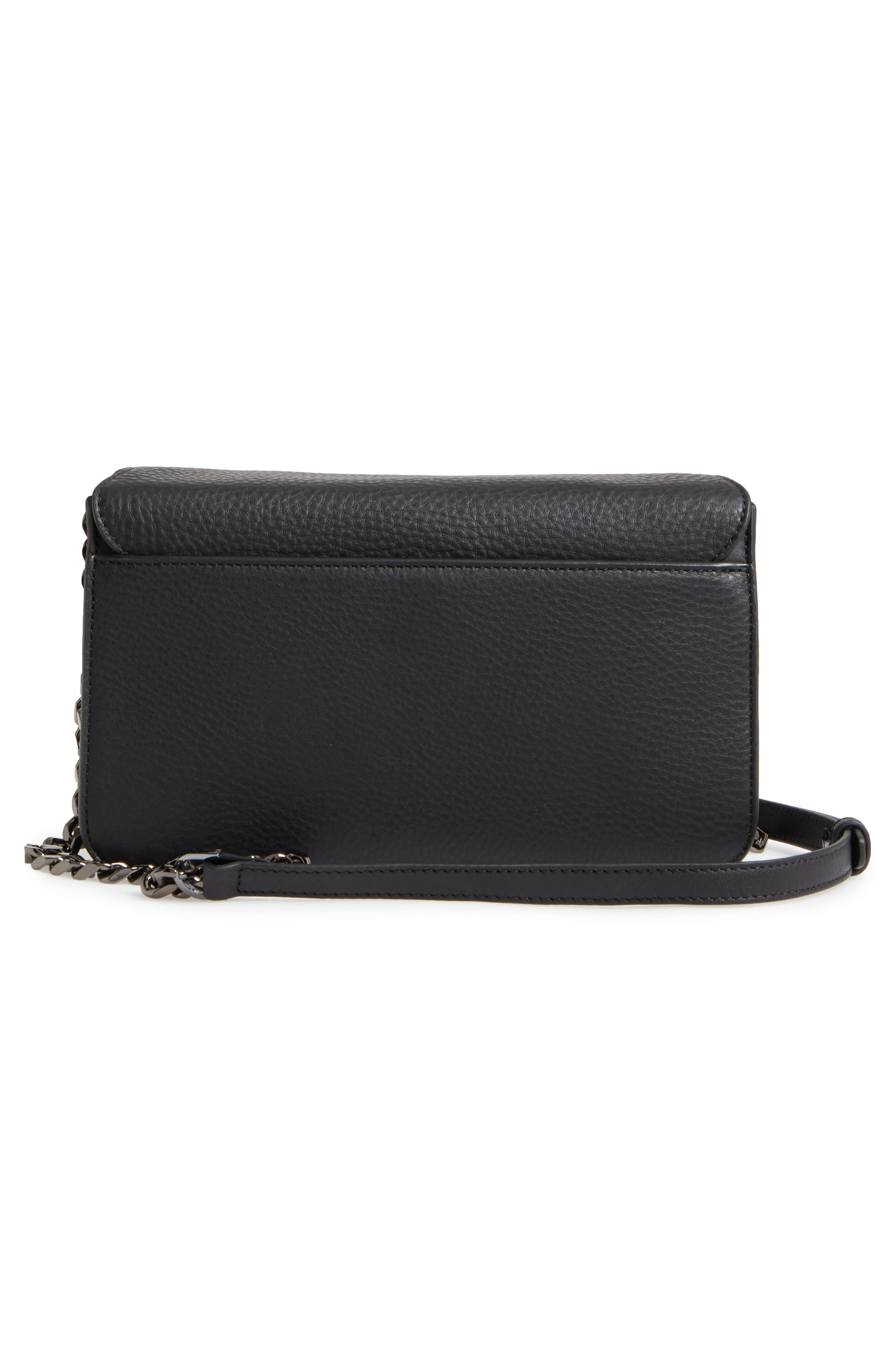 Cortney Nappa Leather Shoulder/Crossbody Bag,                             Alternate thumbnail 9, color,