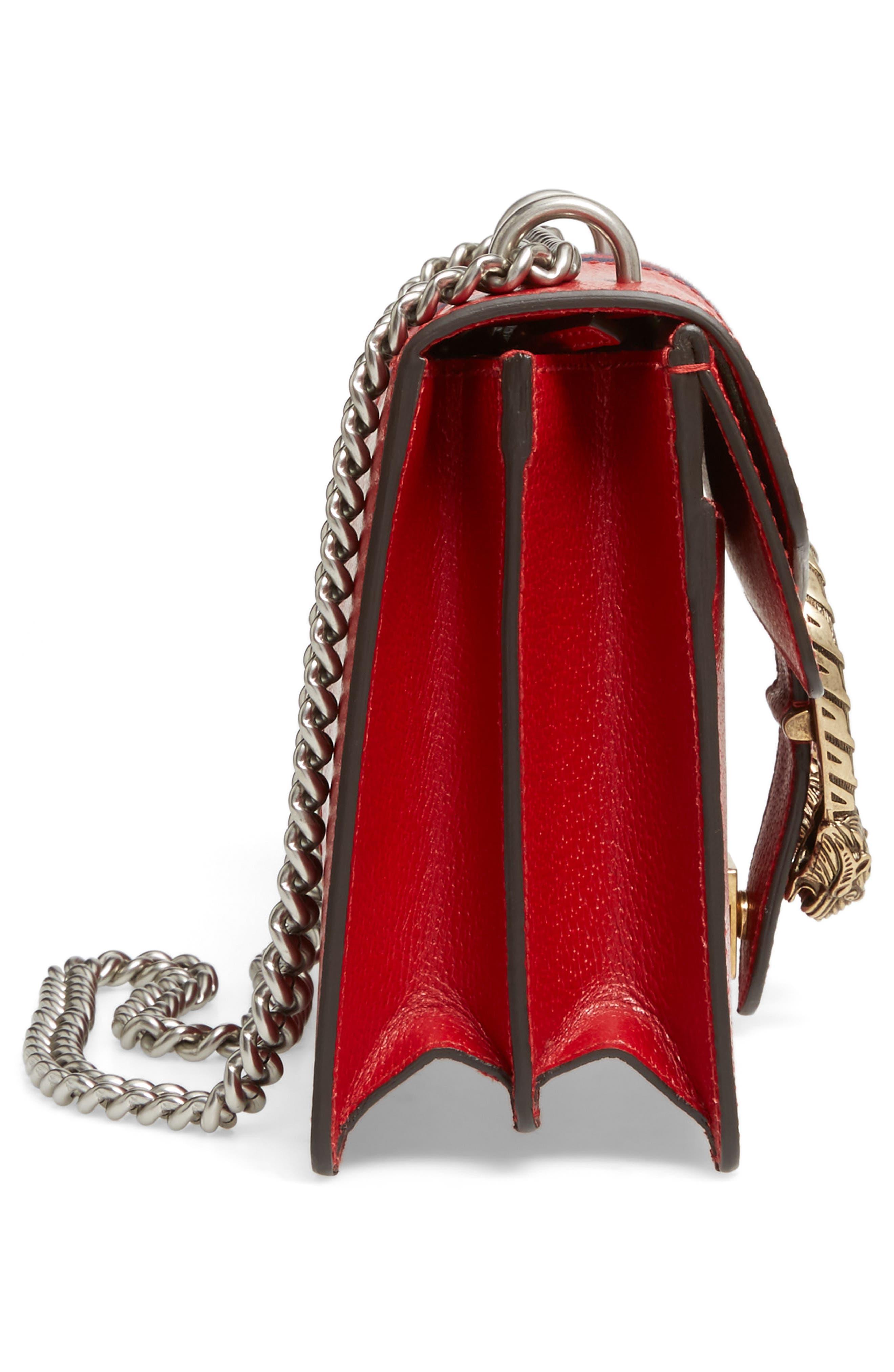 Dionysus Leather Shoulder Bag,                             Alternate thumbnail 5, color,                             625