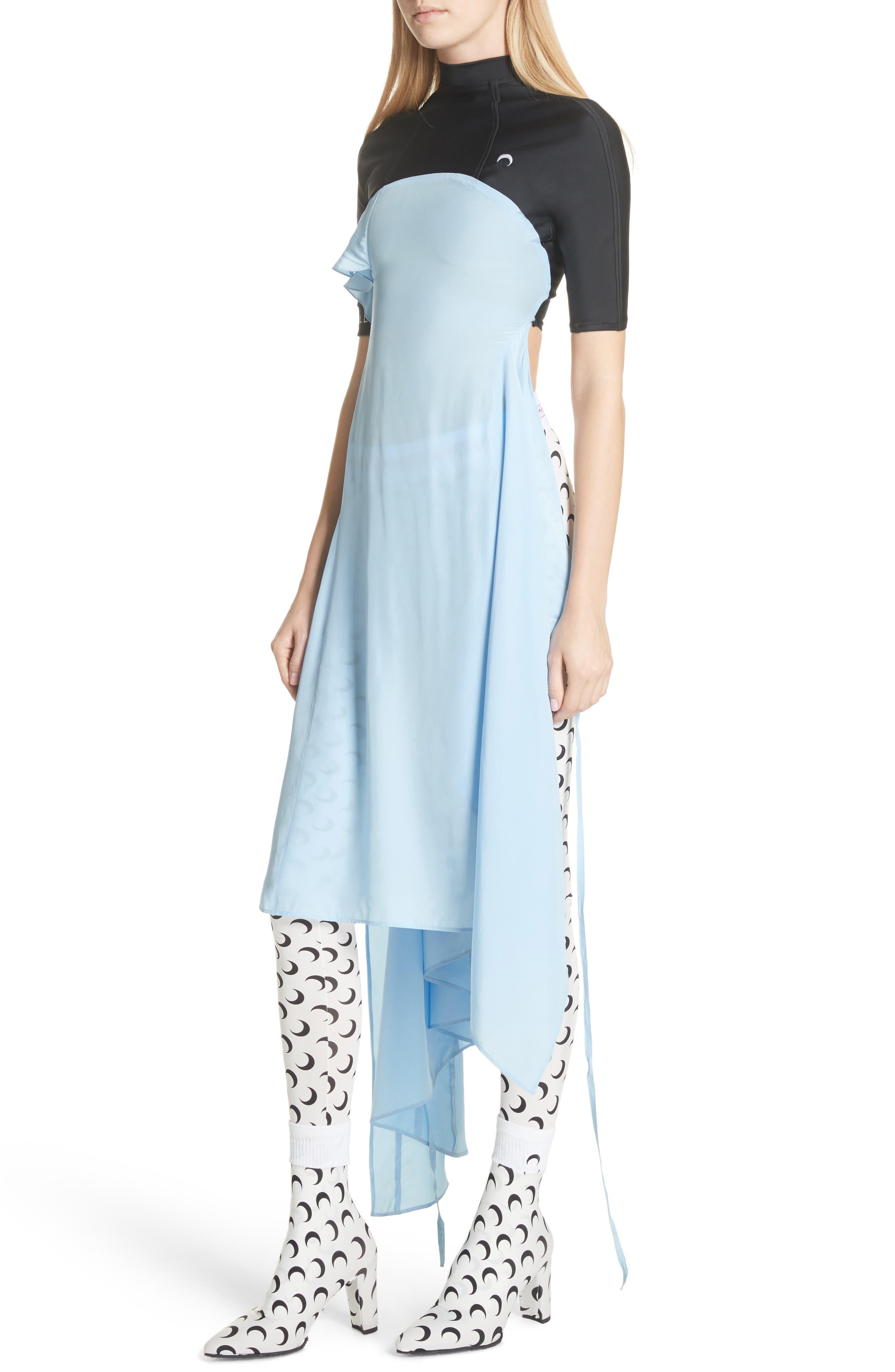 Hybrid Wrap Dress,                             Alternate thumbnail 4, color,                             400