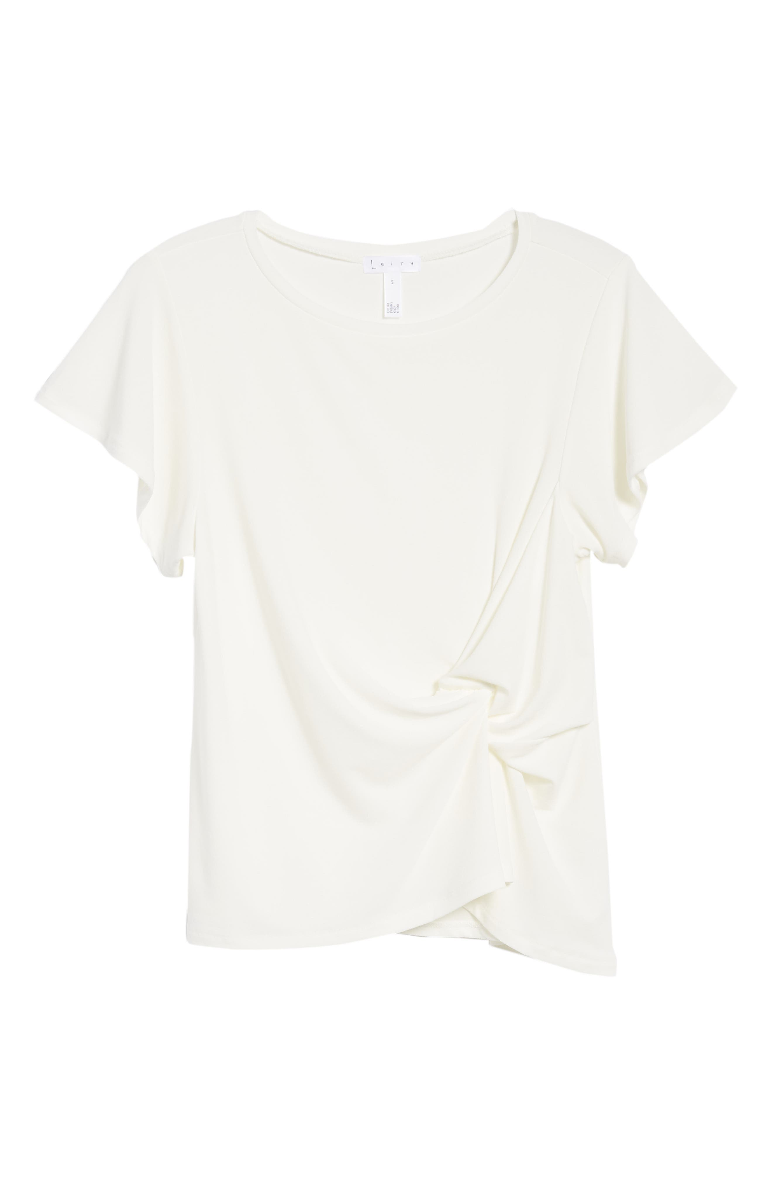 Side Knot Tee,                             Alternate thumbnail 6, color,                             900