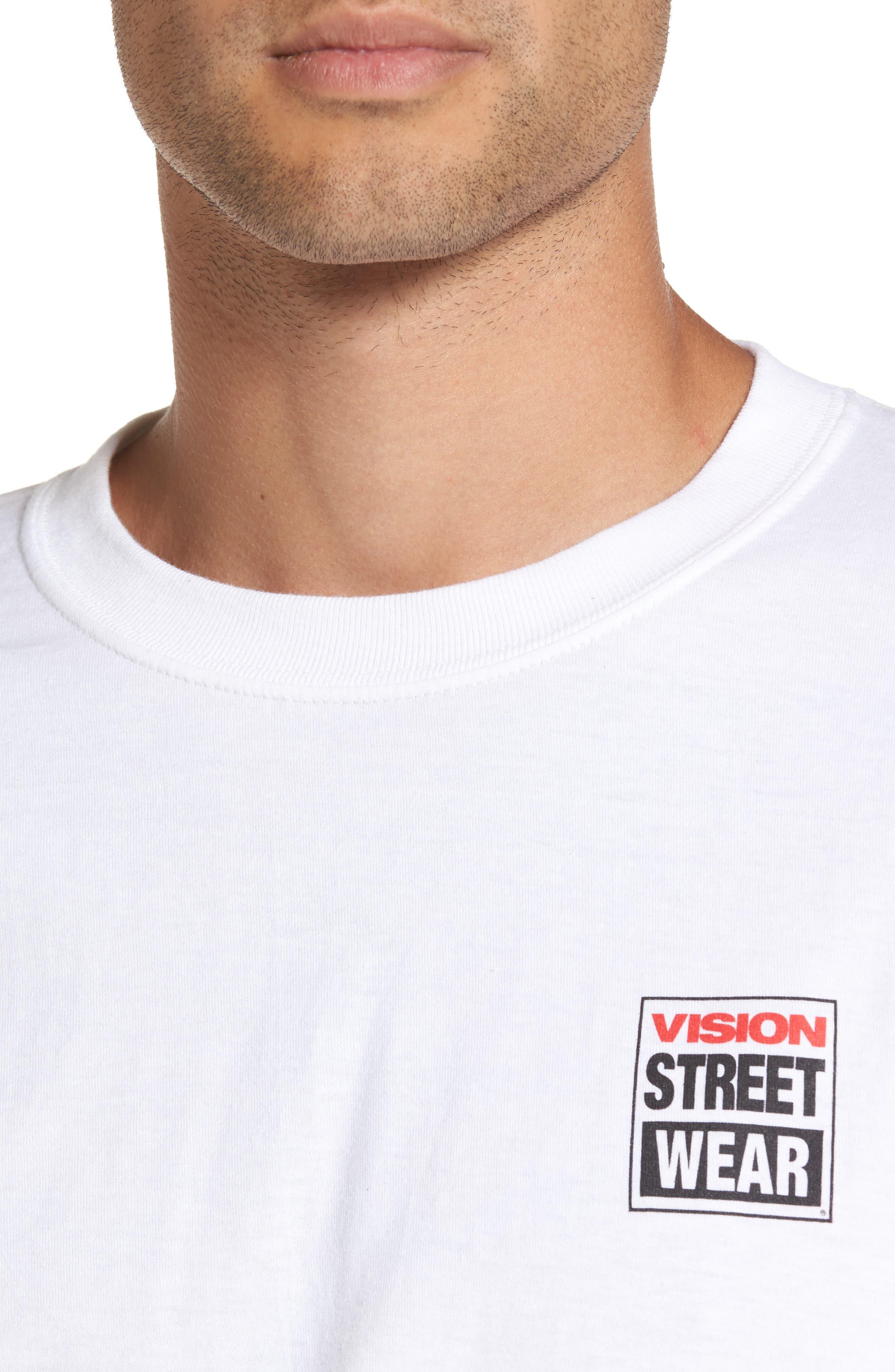 Vision Street Wear Long Sleeve T-Shirt,                             Alternate thumbnail 5, color,                             100