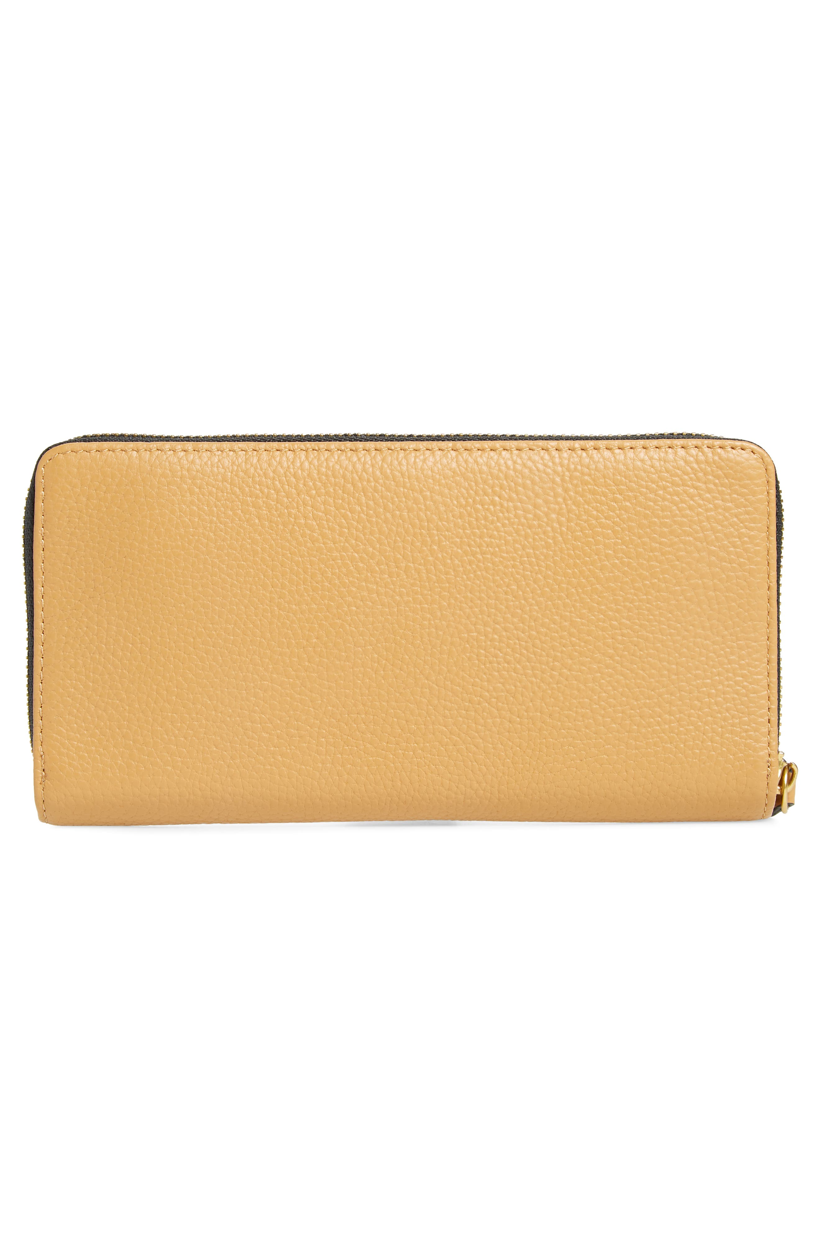 Zip Around Leather Wallet,                             Alternate thumbnail 11, color,