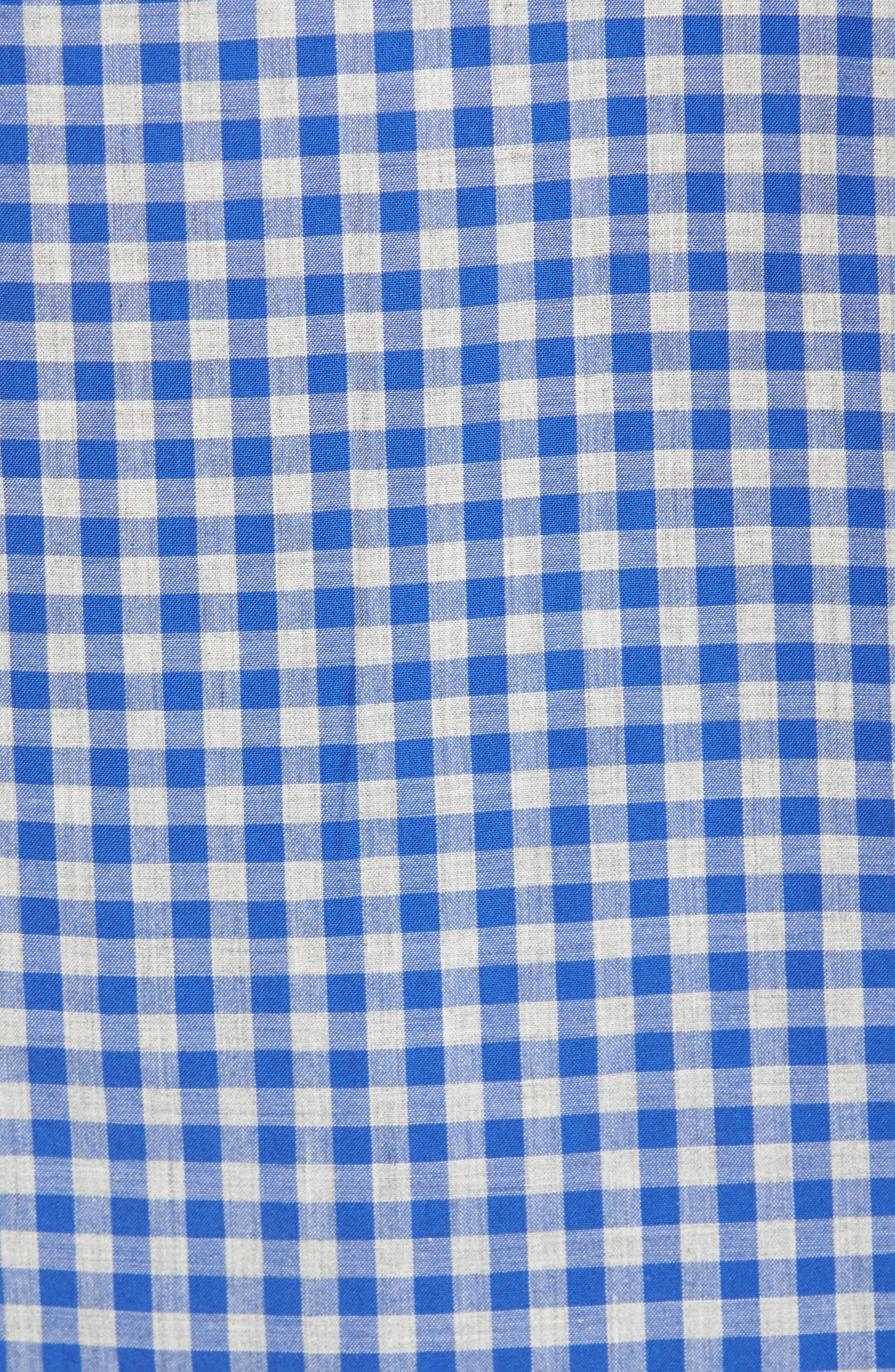 Slim Fit Washed Check Sport Shirt,                             Alternate thumbnail 5, color,
