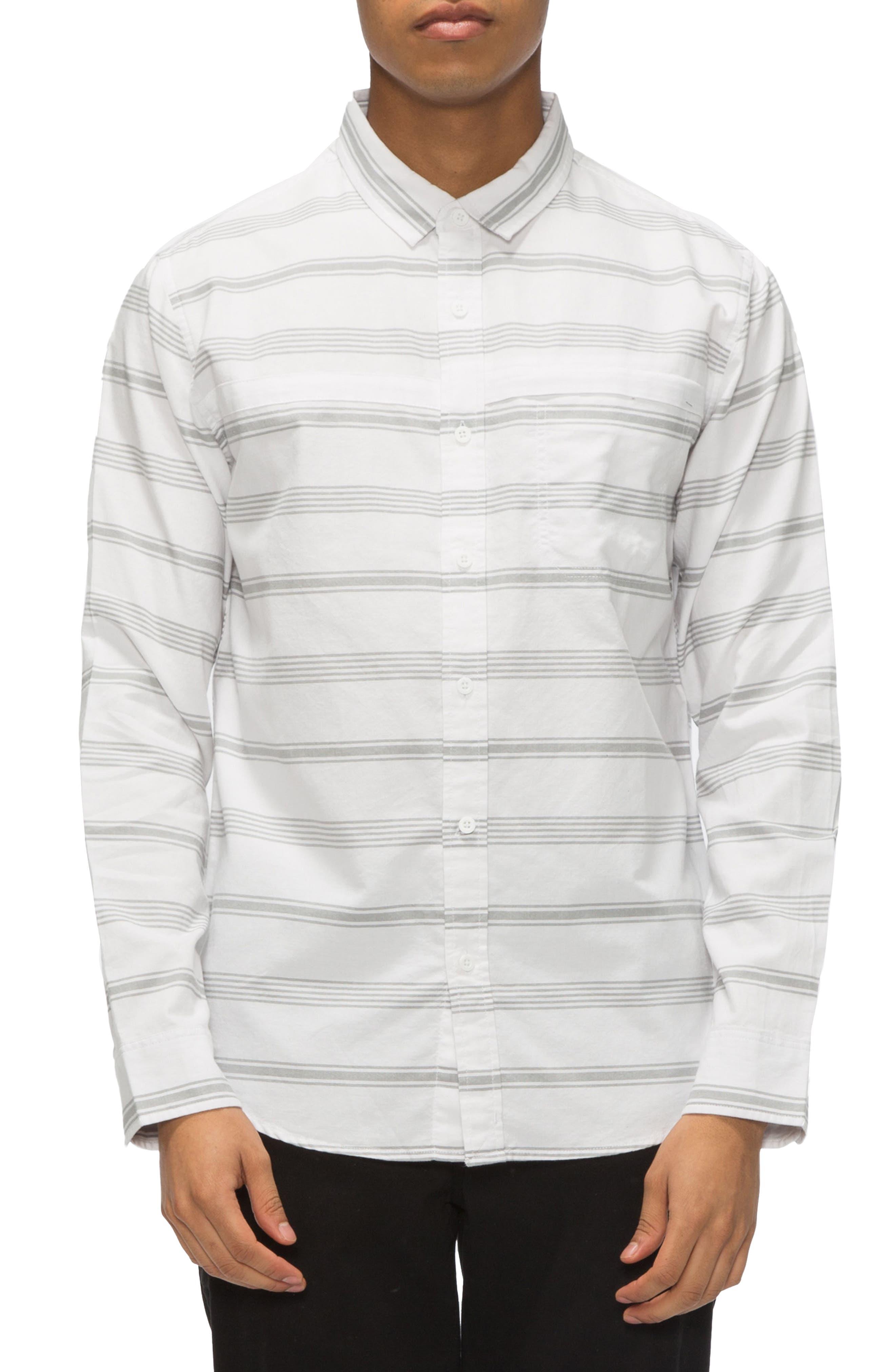 Shin Stripe Sport Shirt,                             Main thumbnail 2, color,