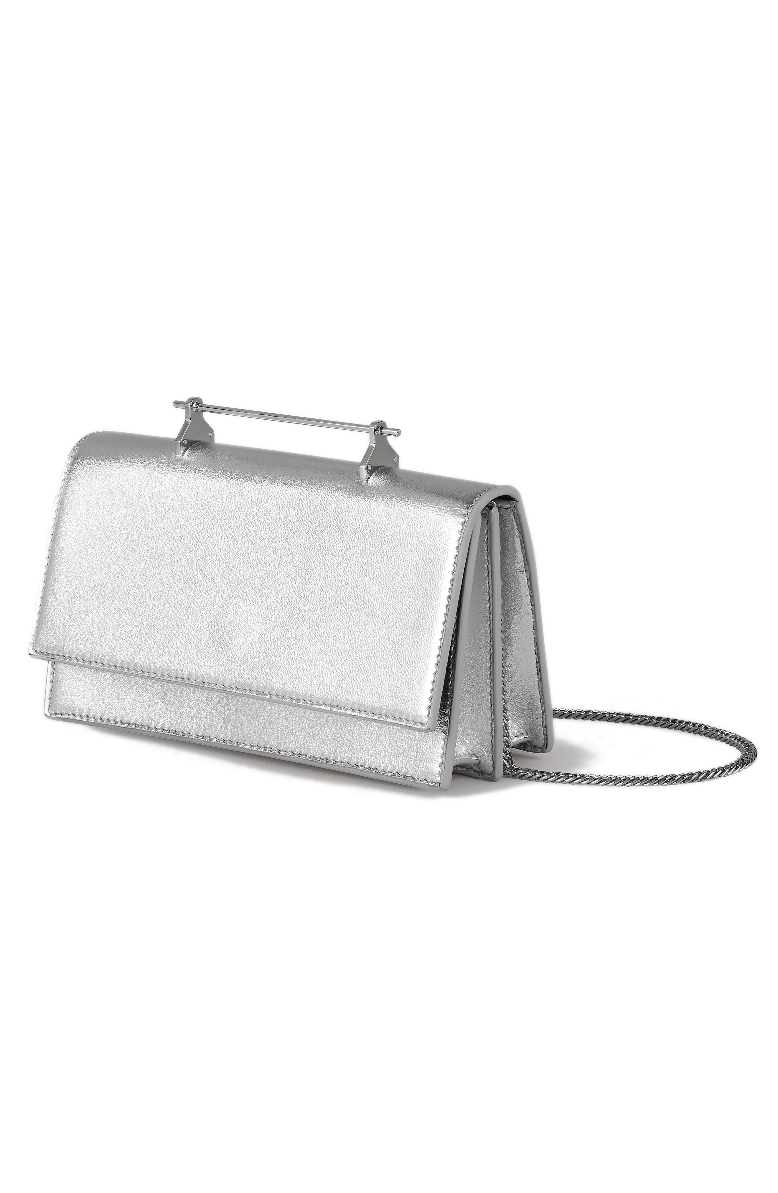 Alexia Metallic Leather Shoulder Bag,                             Alternate thumbnail 3, color,                             040