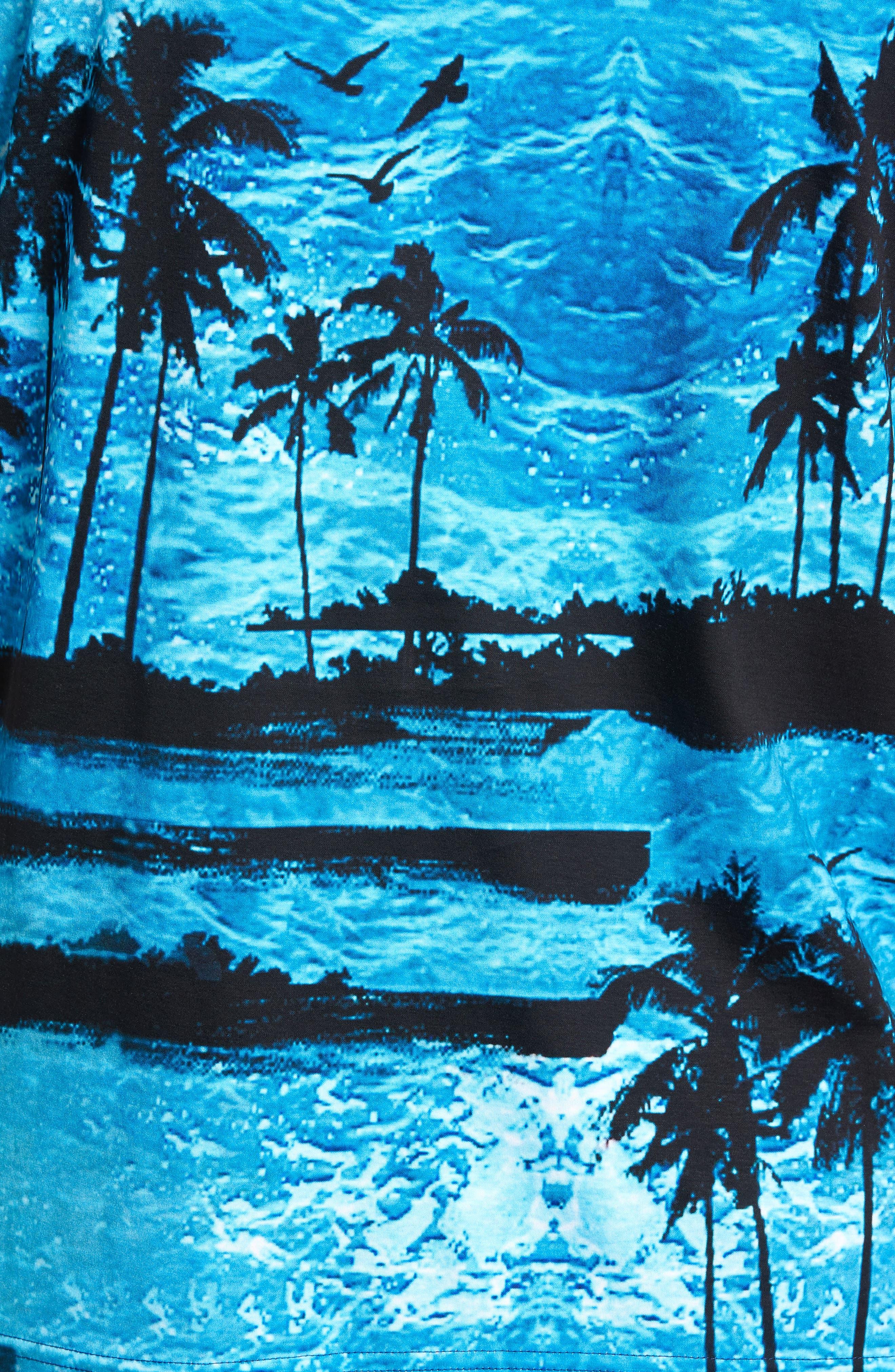 Print Polo,                             Alternate thumbnail 5, color,                             OCEAN
