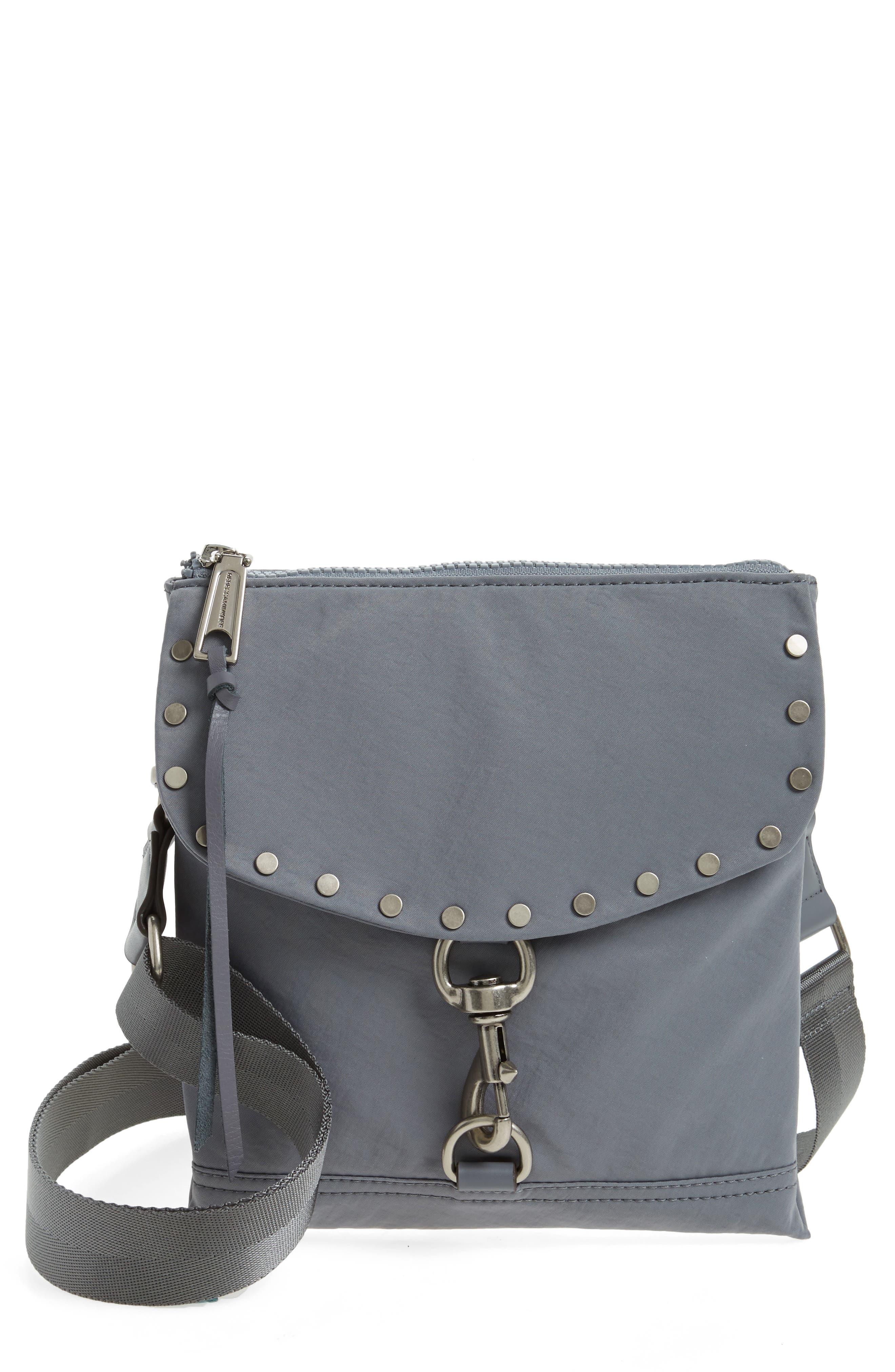 Nylon Flap Crossbody Bag,                             Main thumbnail 2, color,