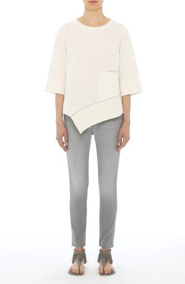 Asymmetrical Cotton Sweatshirt, video thumbnail